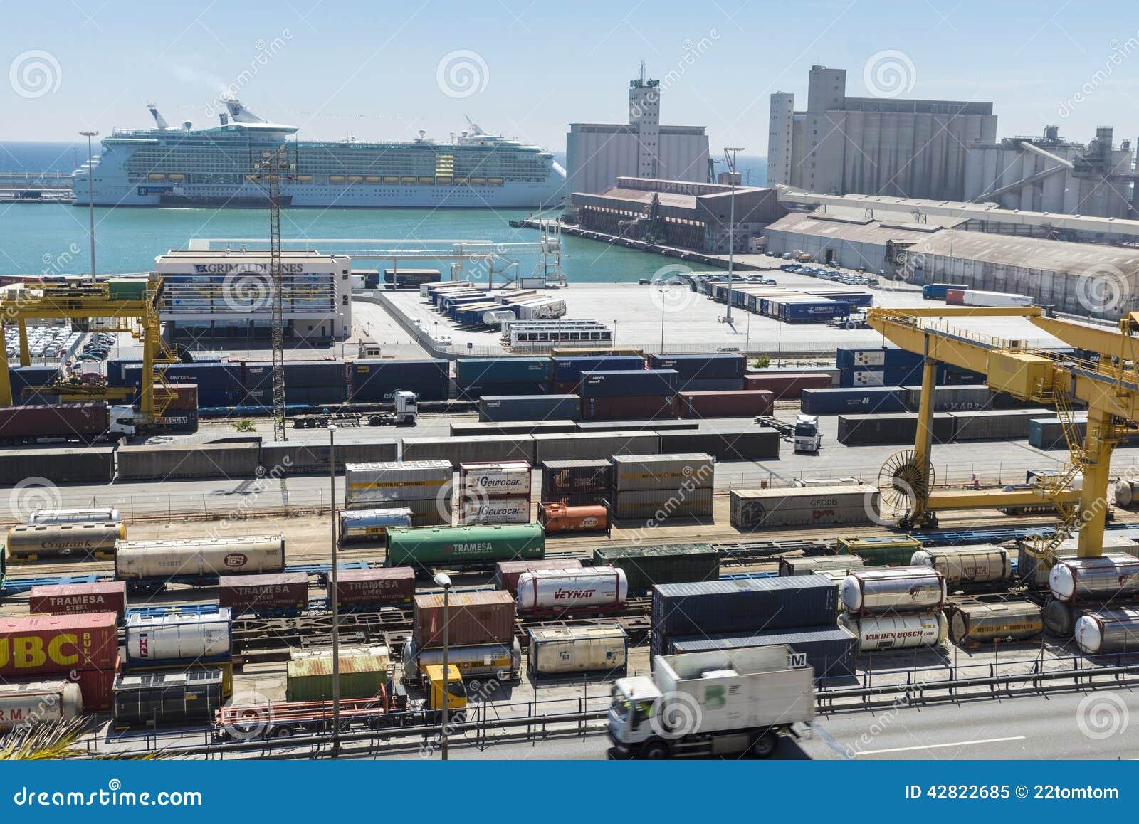 Terminale di contenitore a Barcellona
