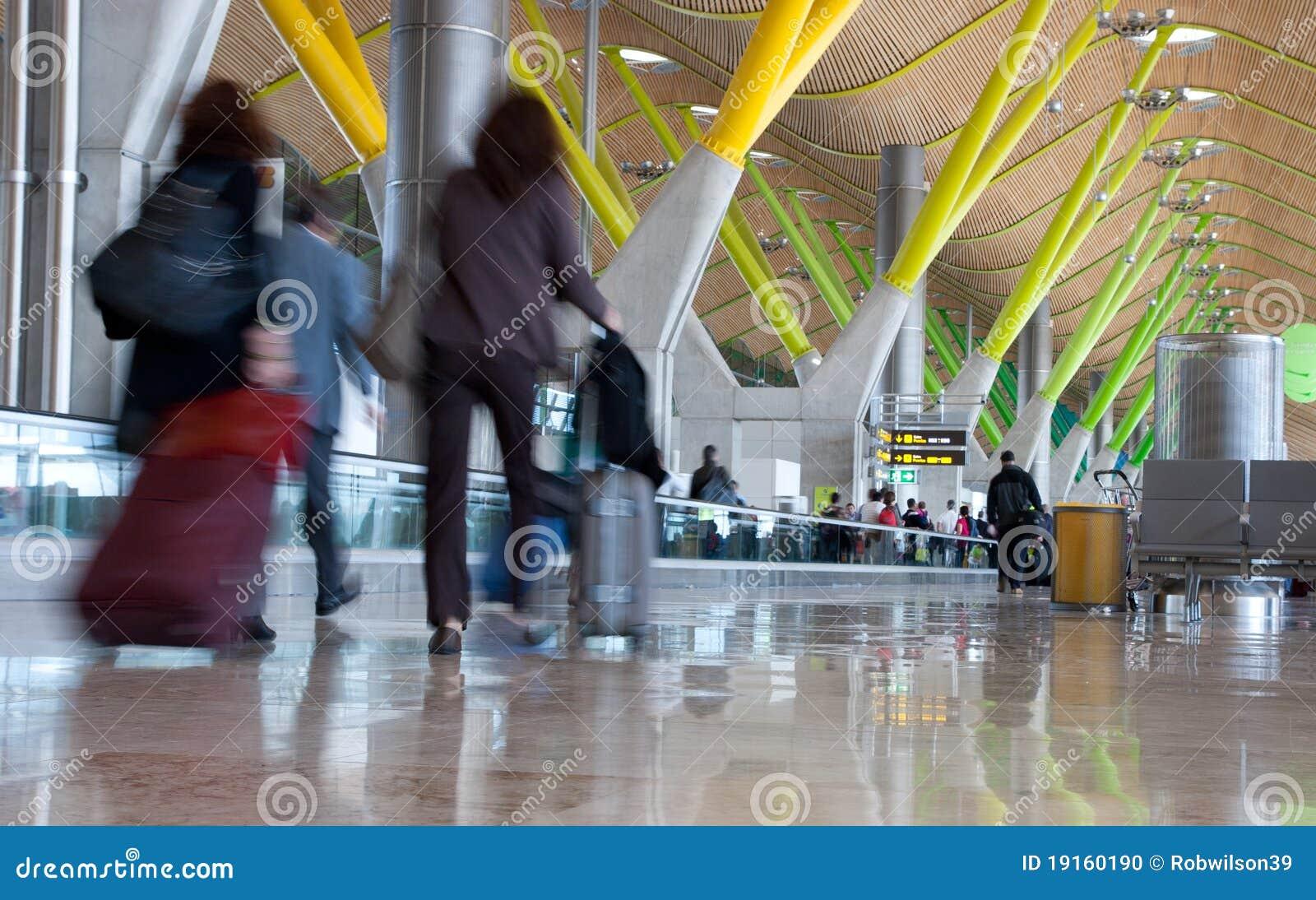 Terminale T4, nell aeroporto del Barajas, Madrid.