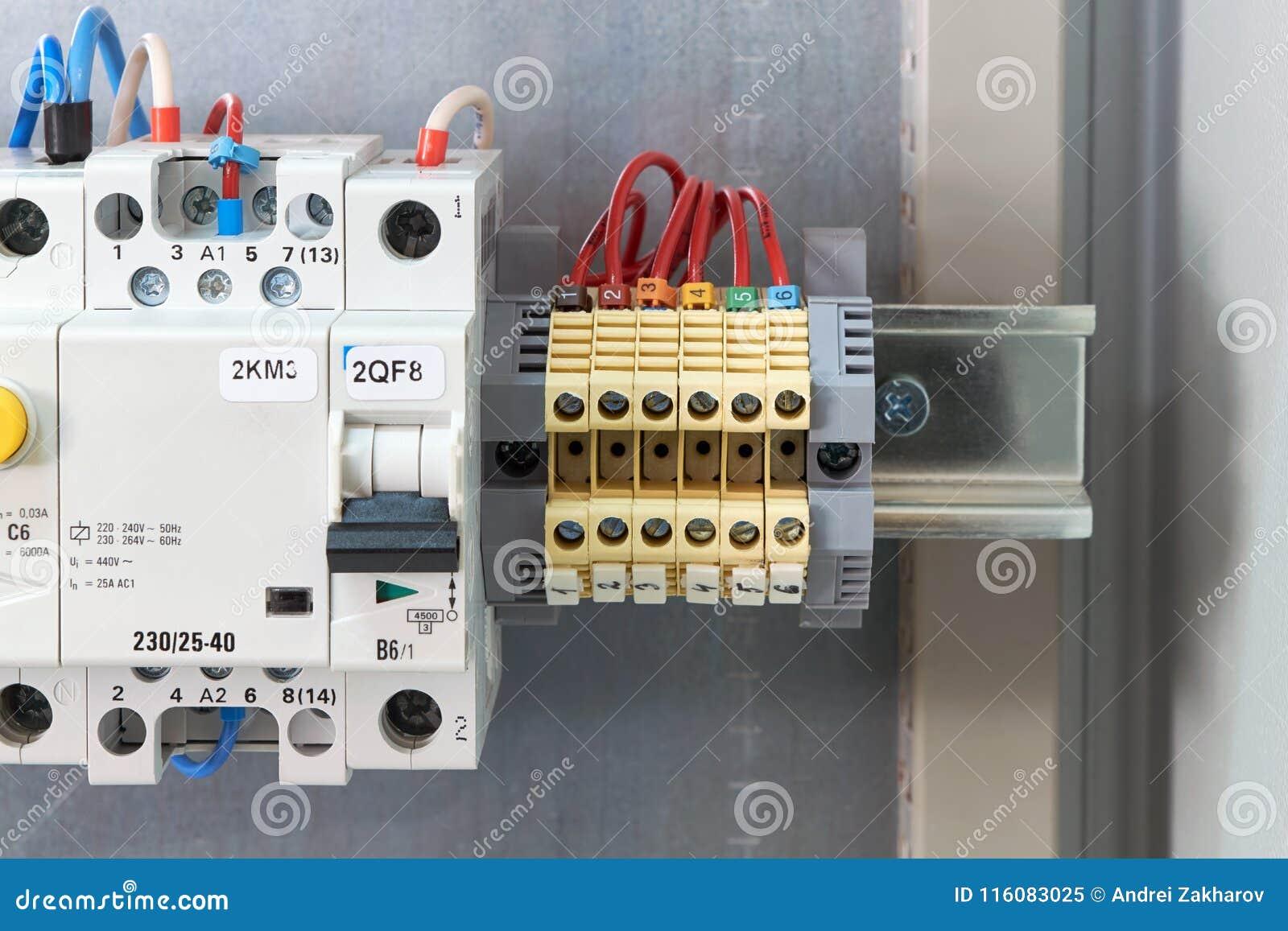 Through Terminals, Circuit Breaker, Modular Contactor And ... on
