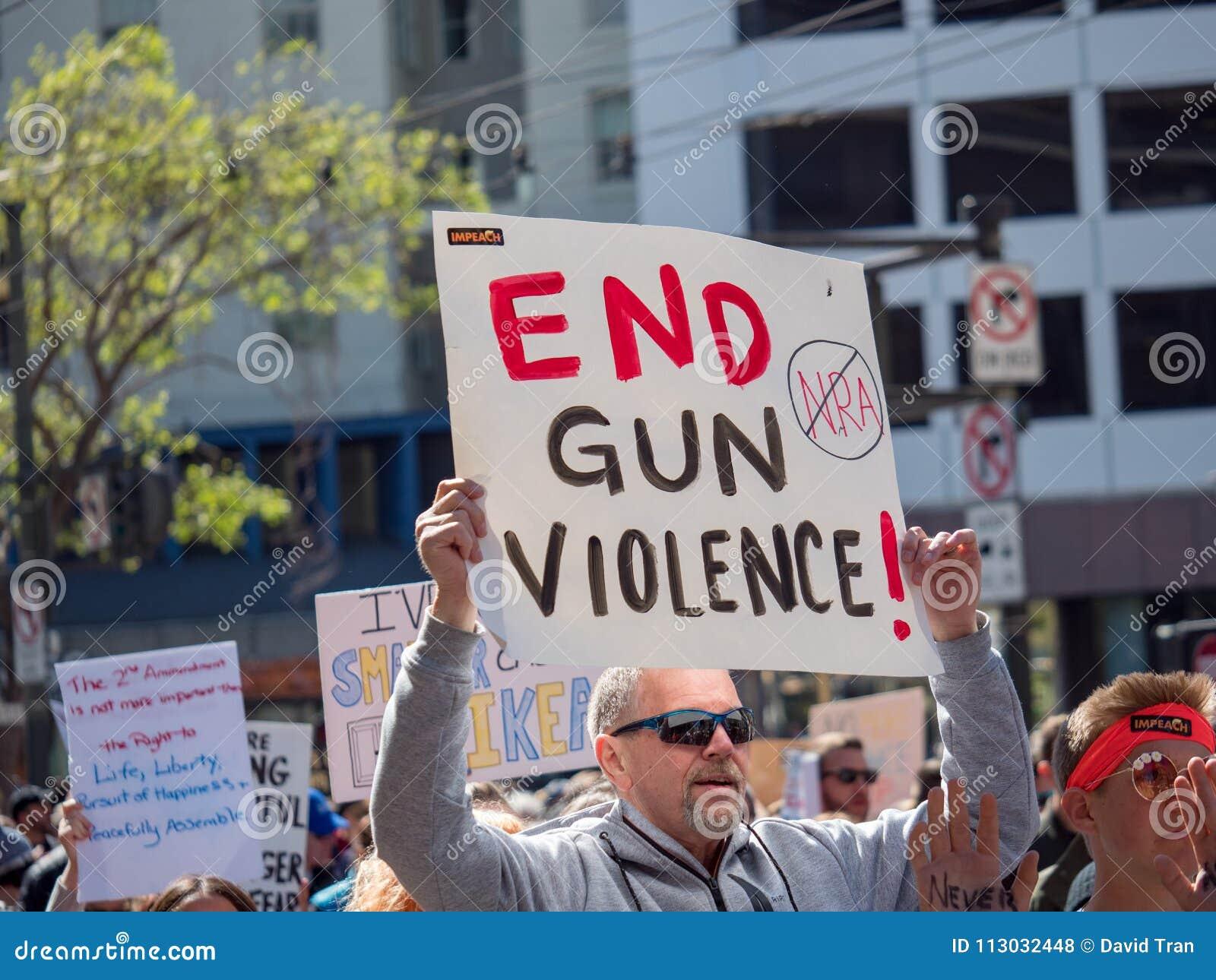 Termine la violencia armada, NRA anti que la muestra en marzo por nuestras vidas se reúne adentro
