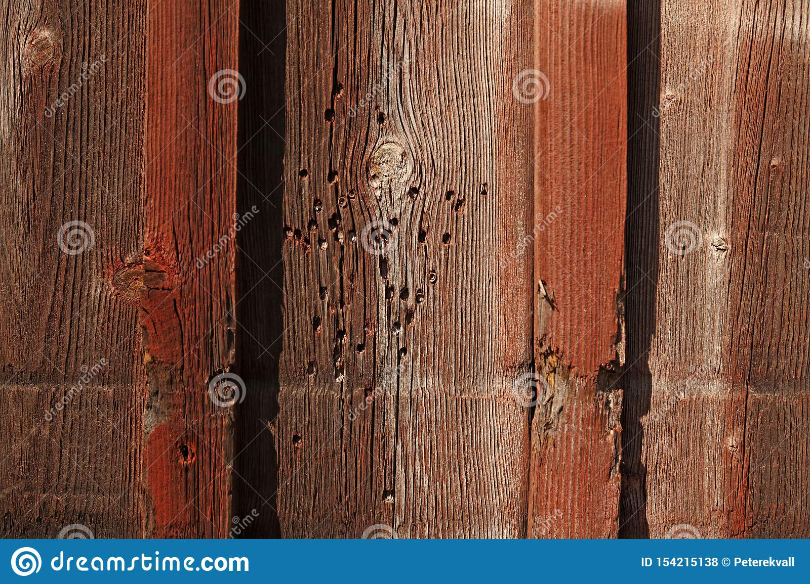 Termite Attack On Facade Wood In Umea Stock Photo Image Of Closeup Facade 154215138