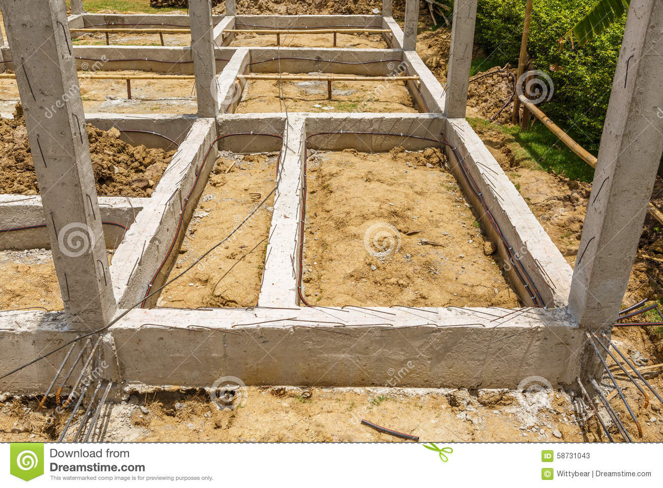 Termite Protection System On Home Foundation Stock Image Image Of Board Holding 58731043