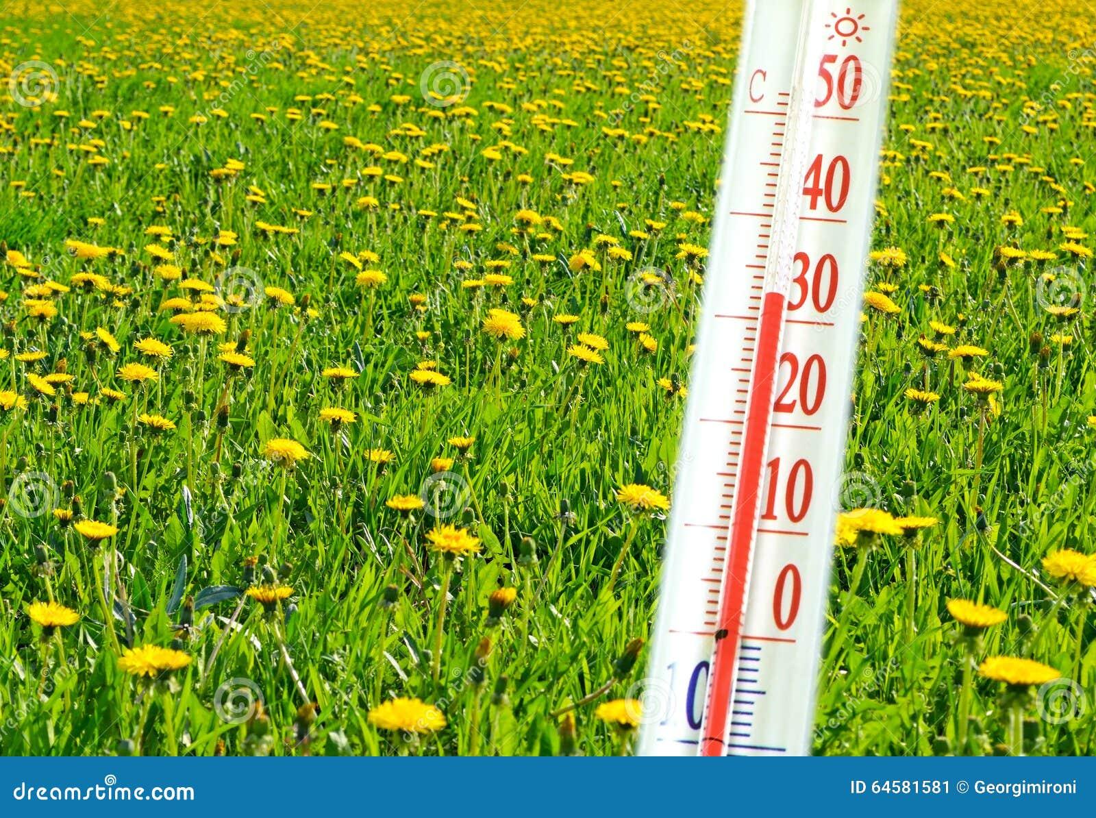 Termometer och temperatur fotografering för bildbyråer. Bild