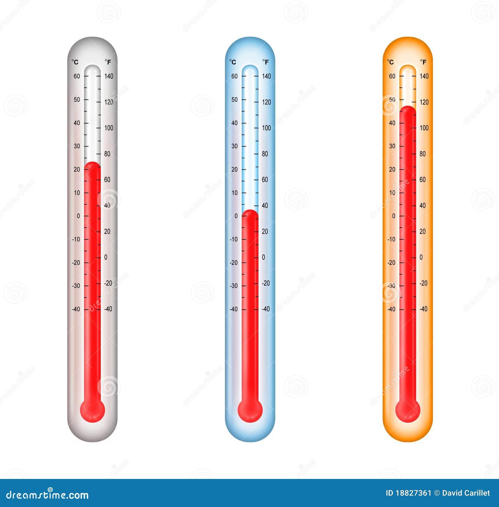 Termometri Con Il Media Il Freddo E Il Temperatur Caldo