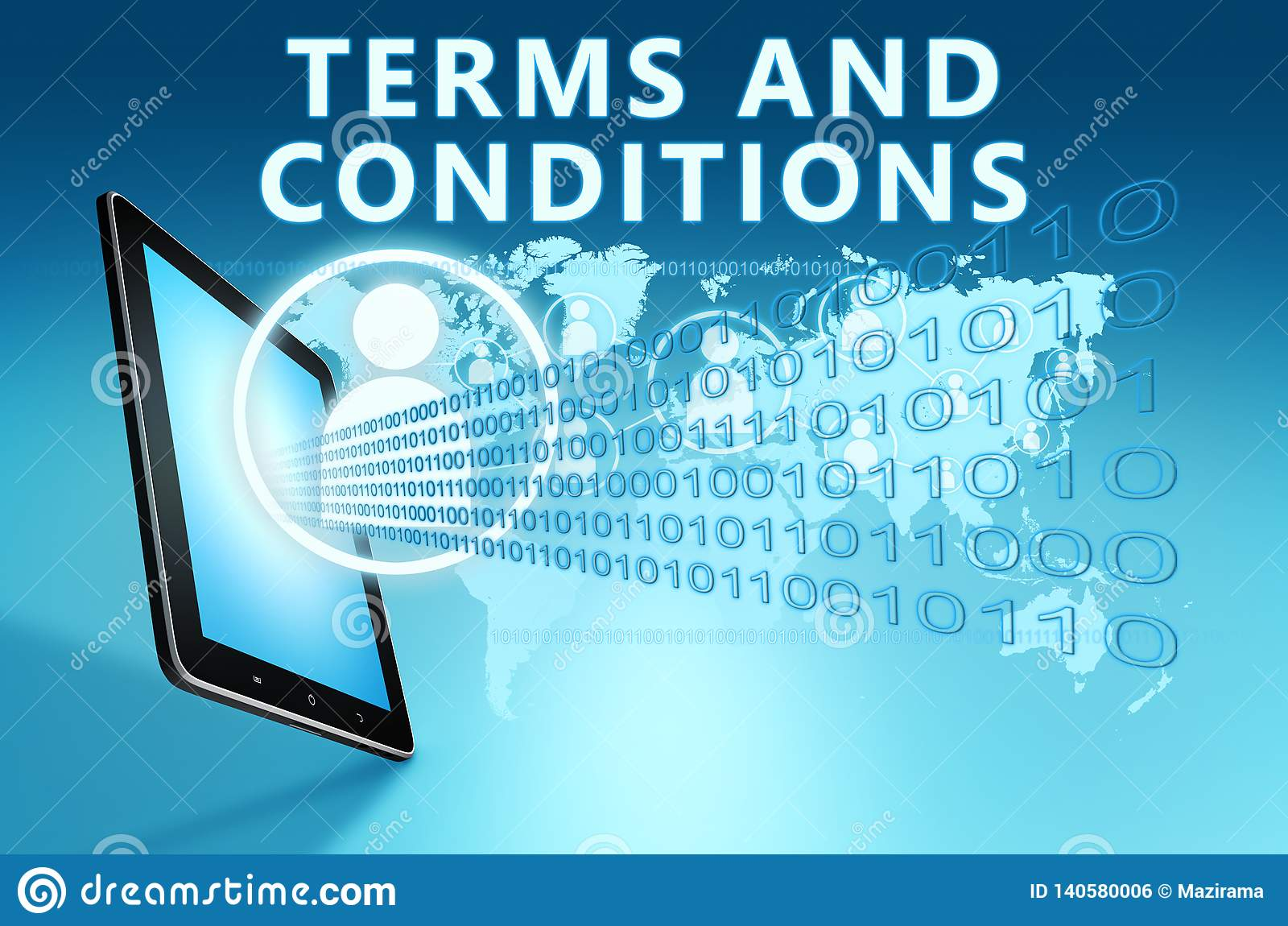 Terms and Conditions stock illustration  Illustration of