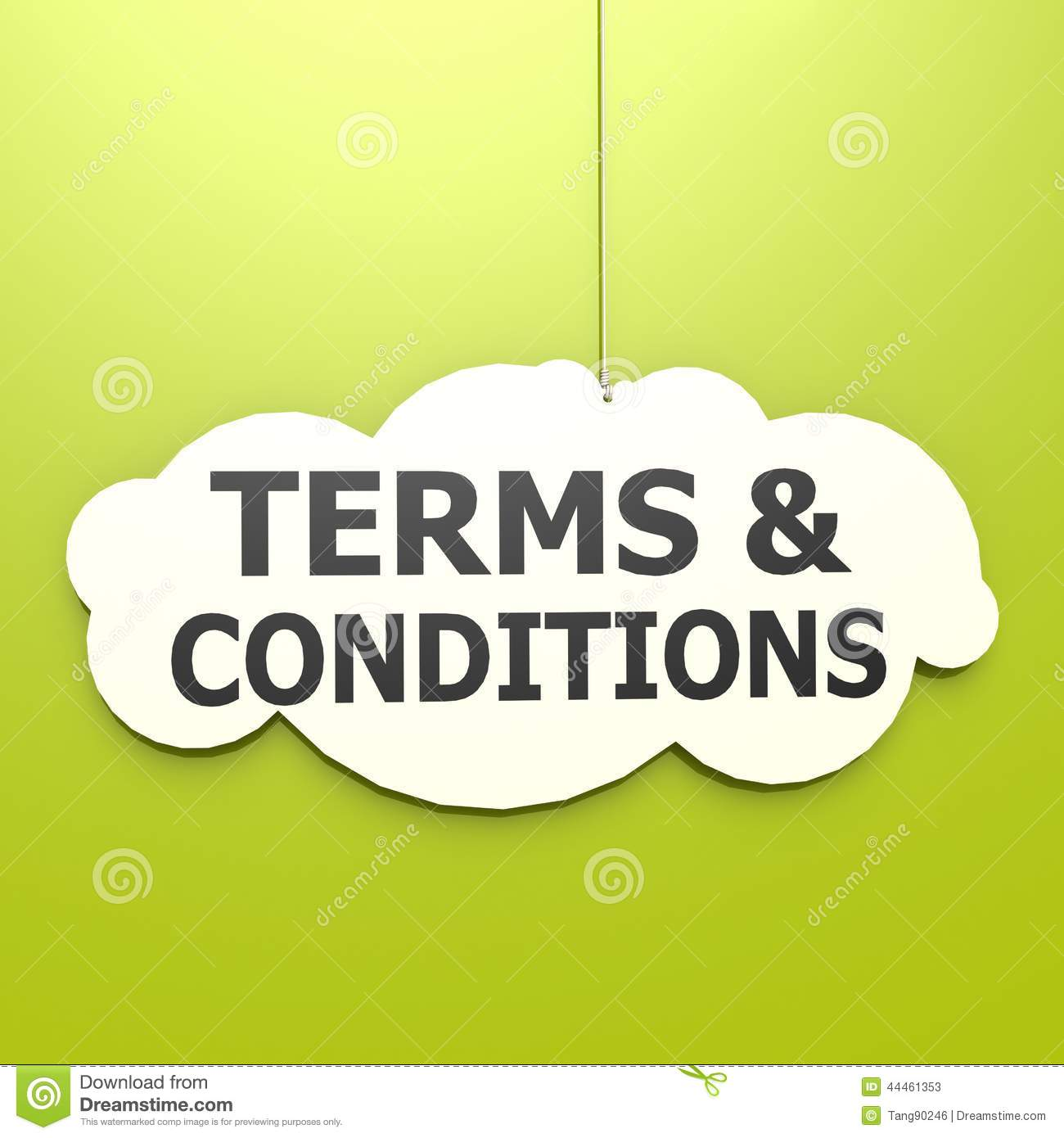 Terms And Conditions Word In Green Background Stock Illustration Image 44461353