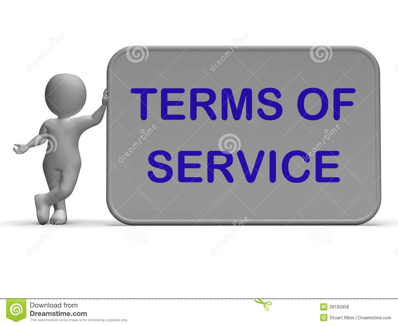 Dating site terms of service