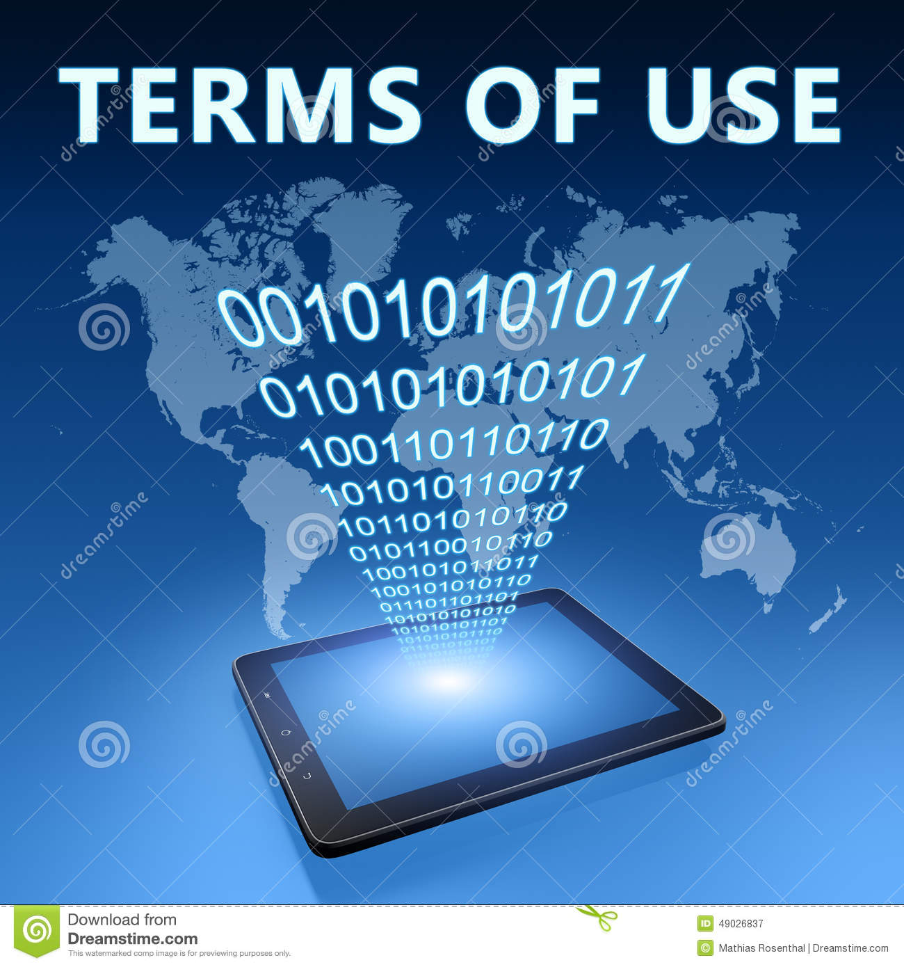 Terms Of Use: Terms Of Use Stock Illustration