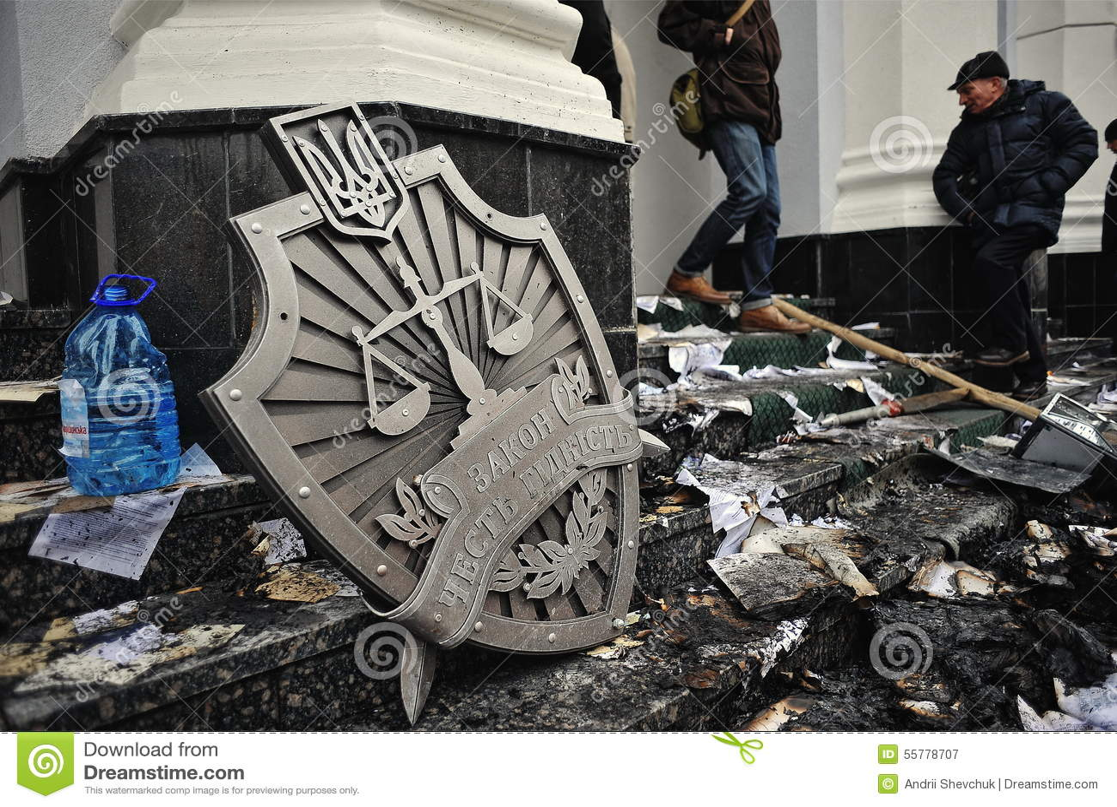 Ternopil UKRAINA - FEBRUARI 2014: Euromaidan rotation