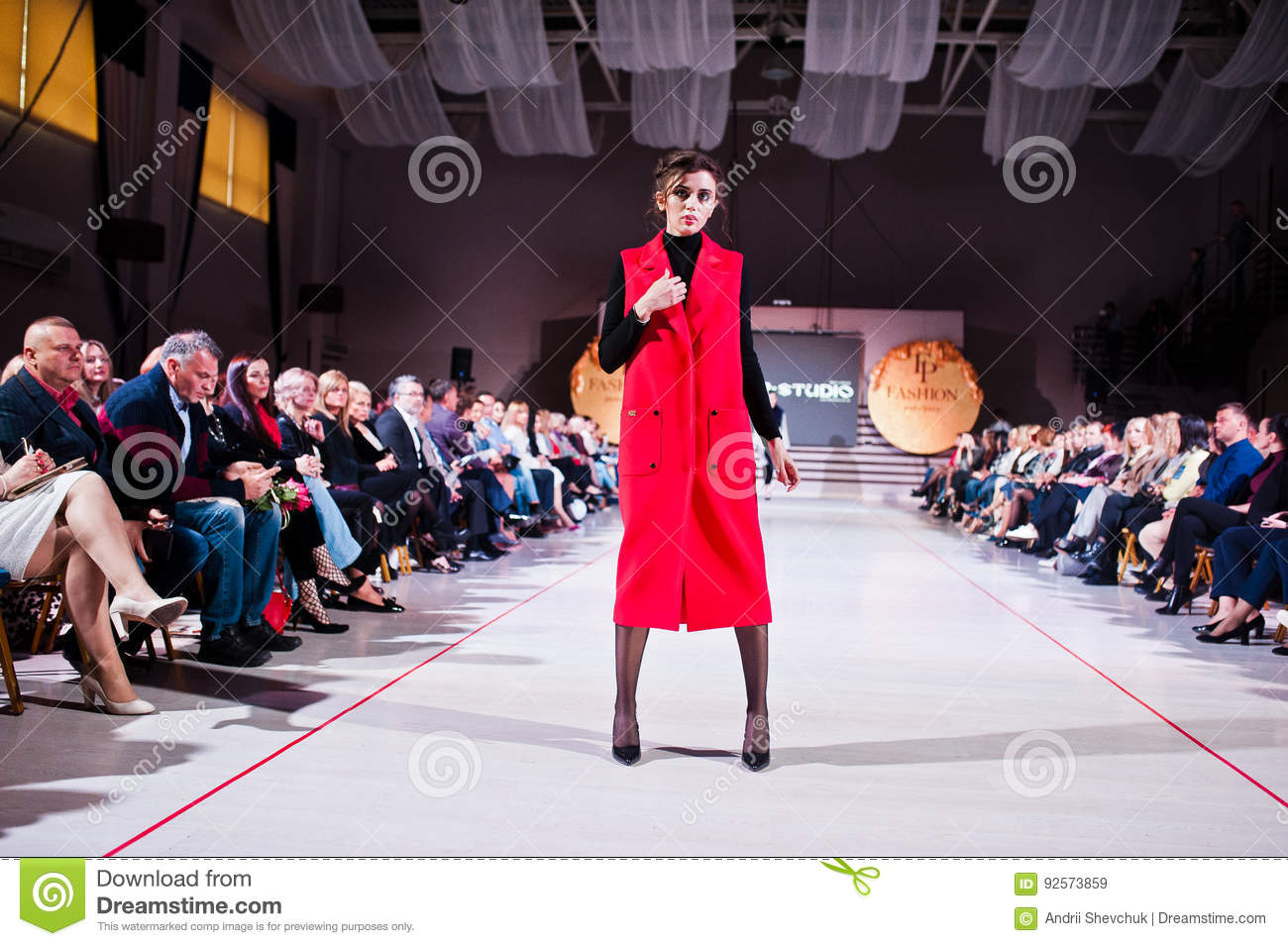 Ternopil, Ukraine - May 12, 2017: Fashion models wearing clothes