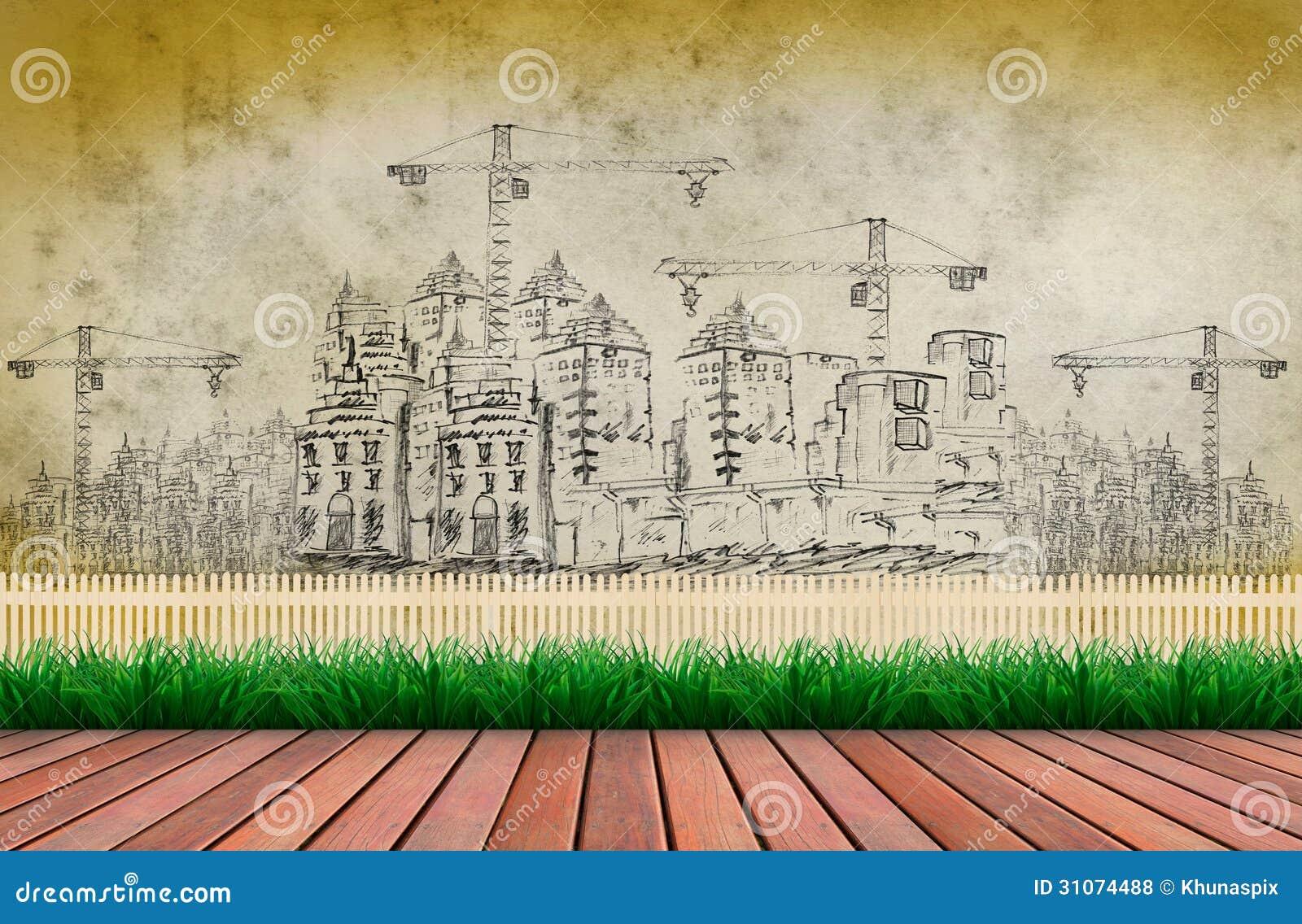 Terraço E Construção Civil De Madeira Fotos de Stock Royalty Free  #1A781D 1300x940