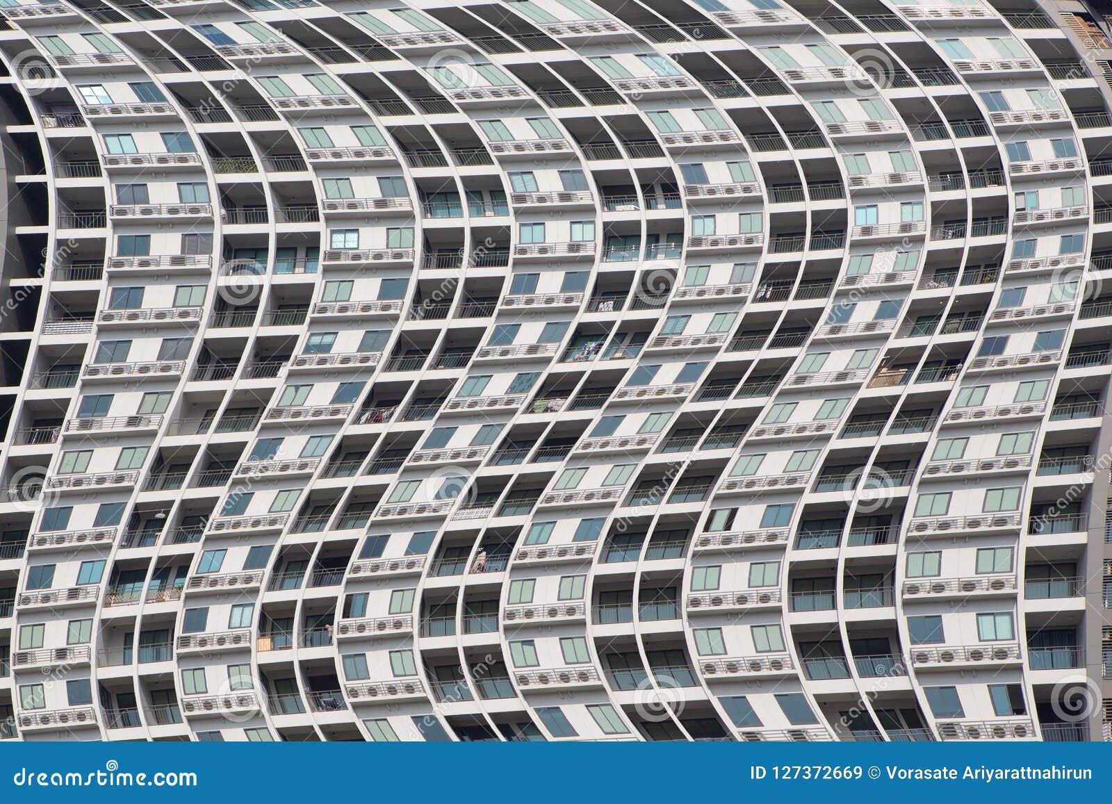 Terraço e janelas das construções