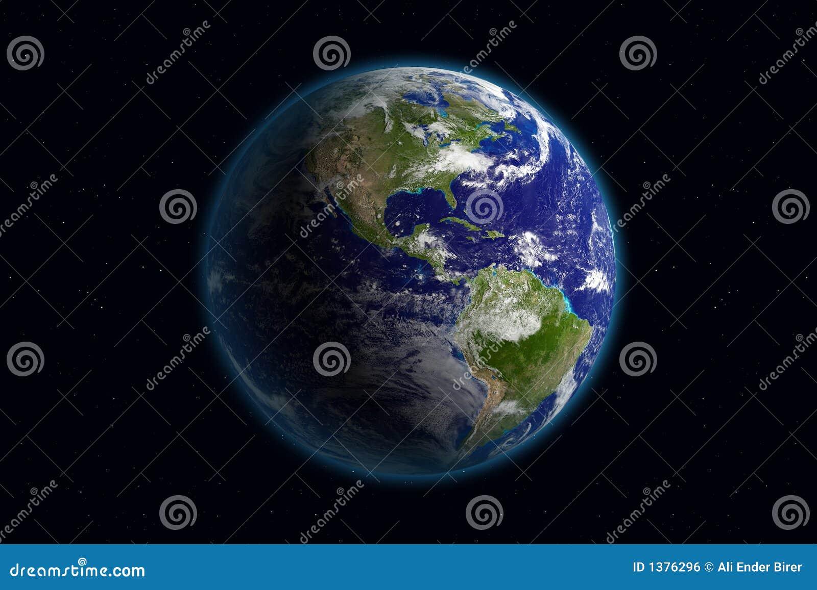 Terra - América & nuvens