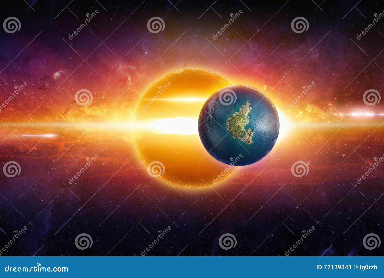 Terra-como o planeta no espaço profundo