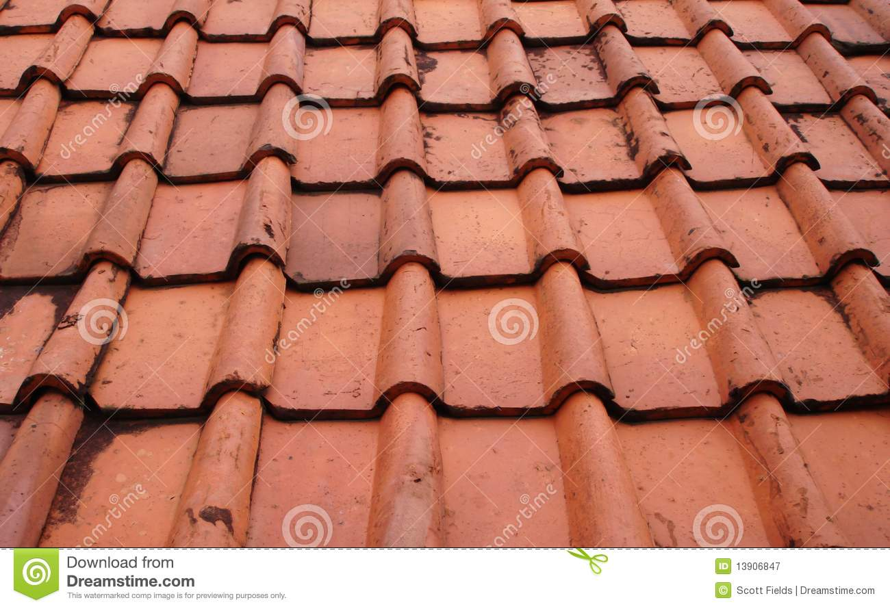 Terra Cotta Roof Tiles In Jakarta Indonesia Royalty Free Stock Photography - Image: 13906847