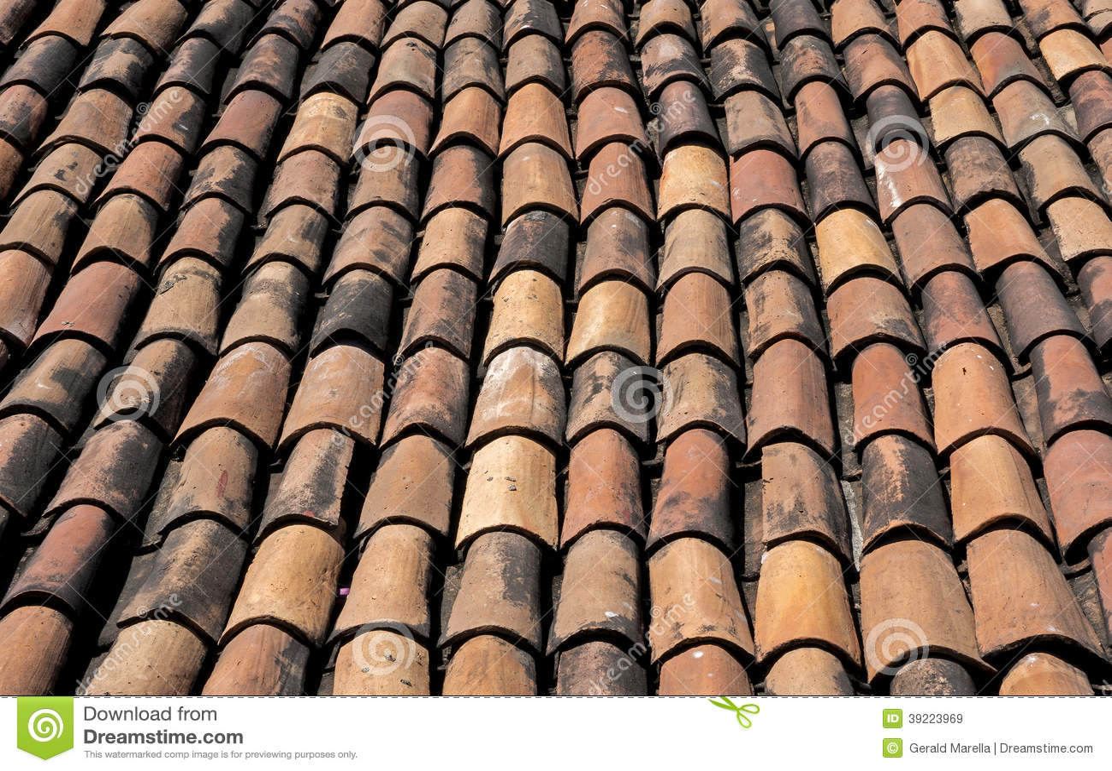Terra Cotta Roofing Tiles Stock Photo Image 39223969