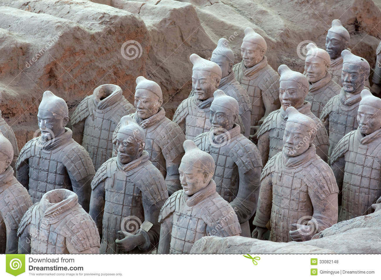 Download Terra-Cotta Warriors stock photo. Image of pottery, grave - 33082148