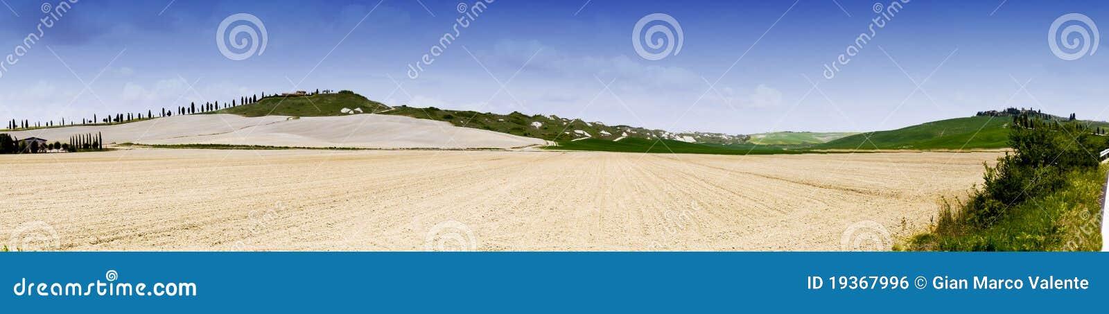 Terra de Siena do panorama