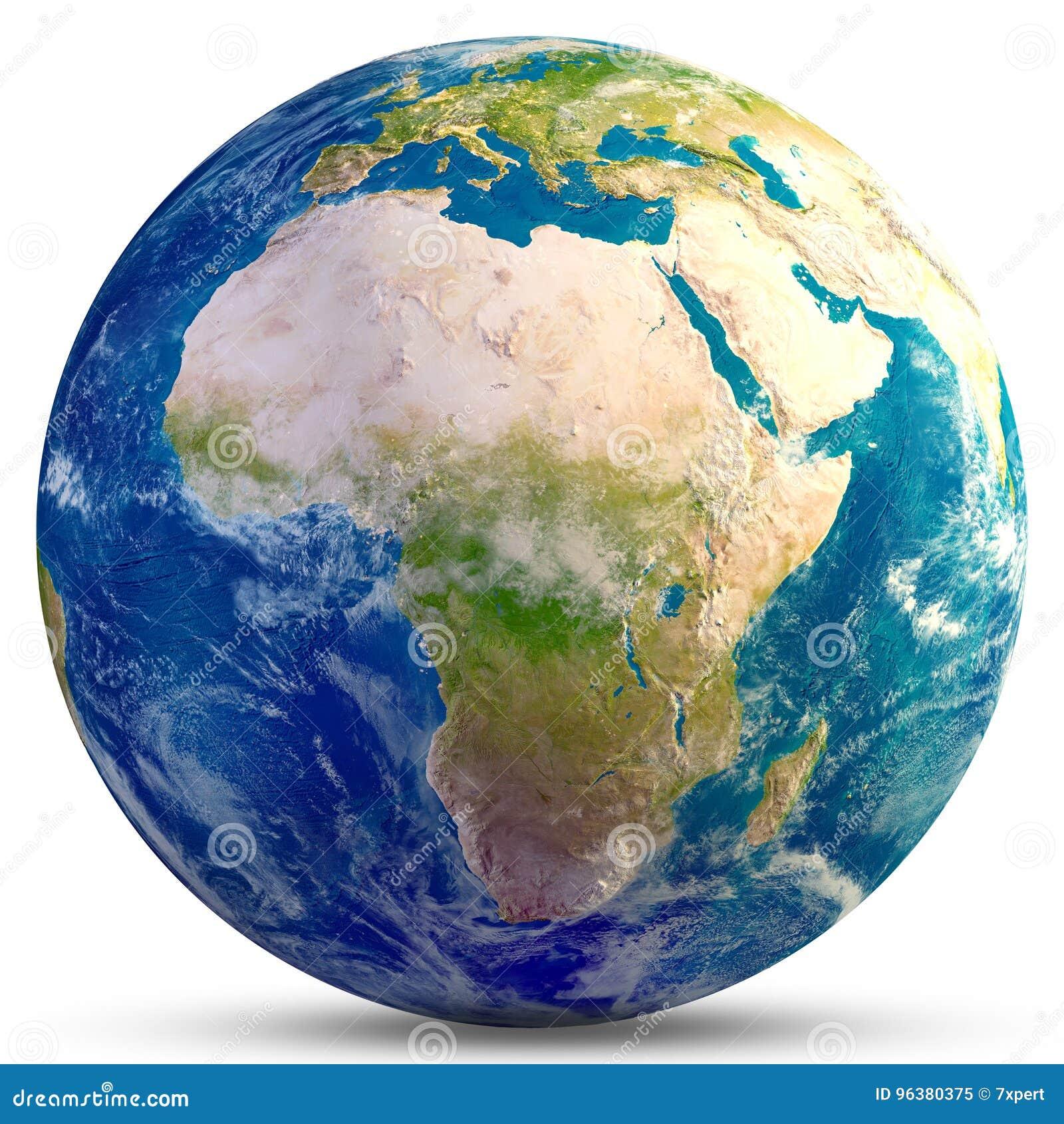 Terra do planeta - África