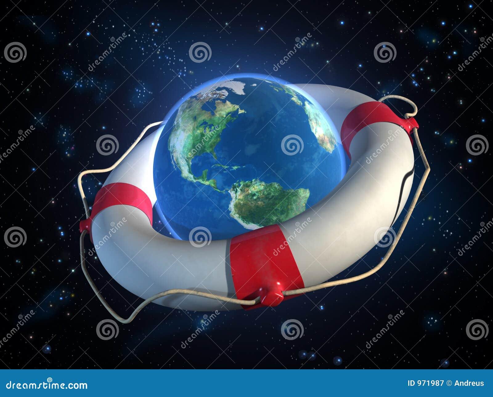 Terra do planeta da economia