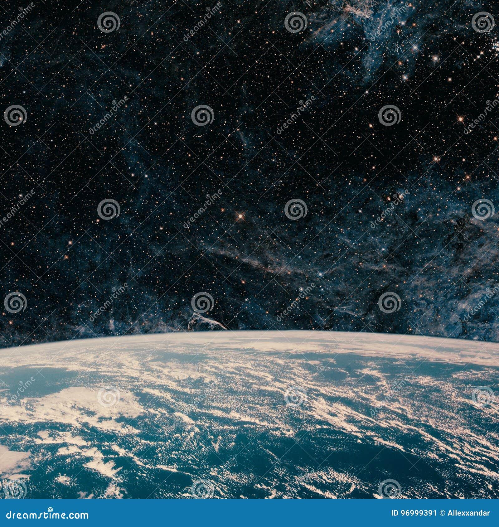 Terra e galassia Spazio del cielo notturno