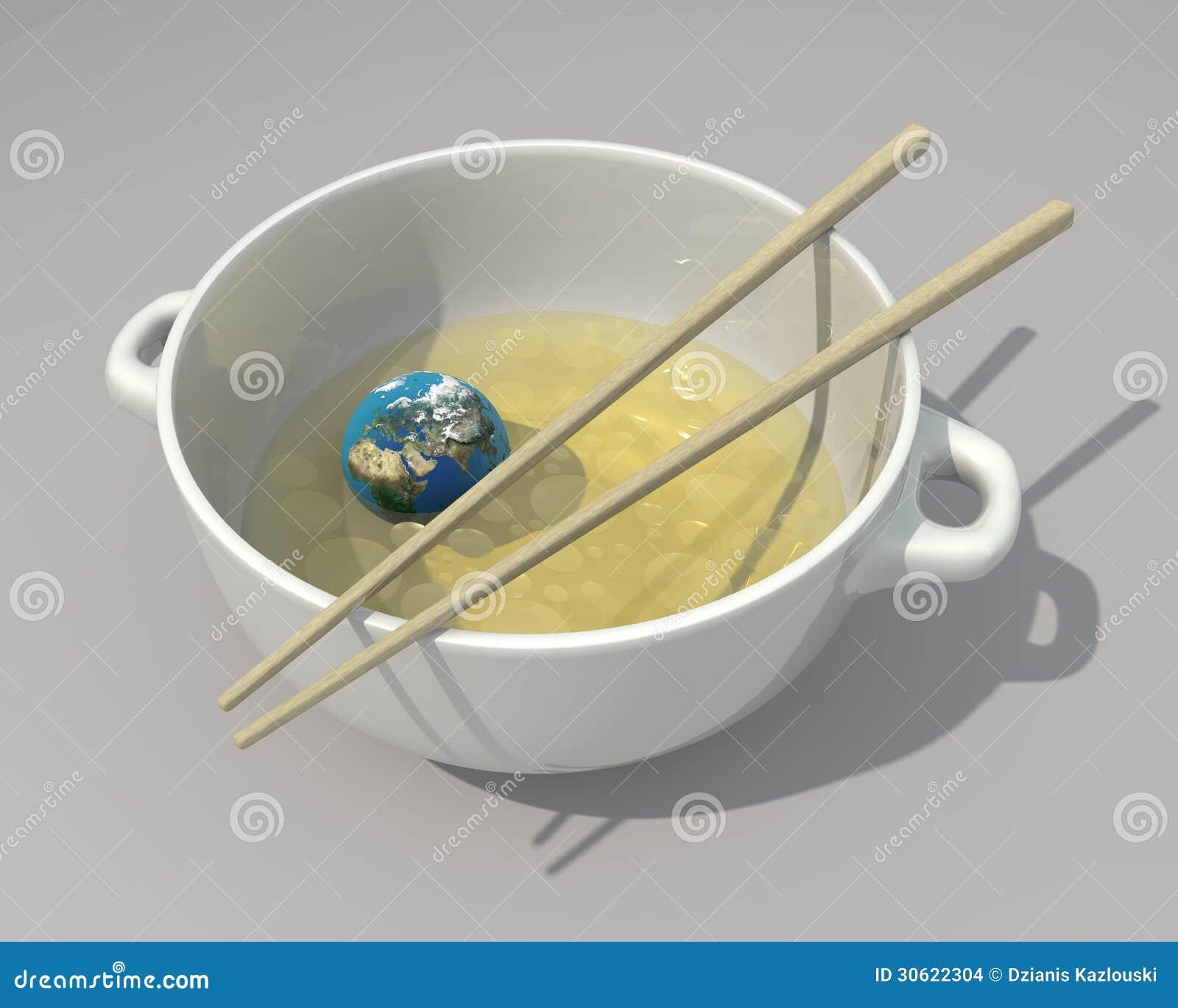 A terra gosta do alimento chinês