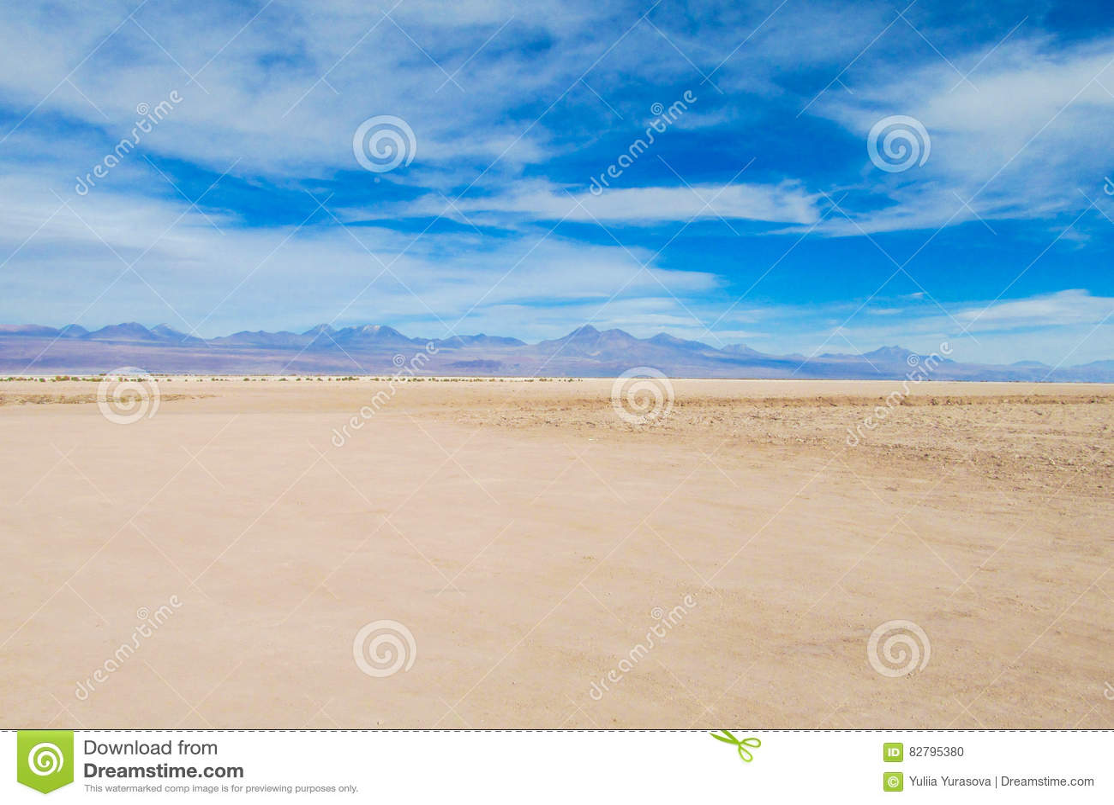 Terra lisa do deserto de Atacama