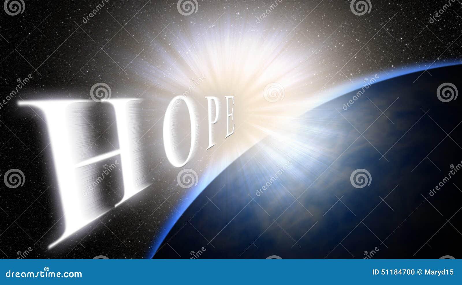 Terra, luce, spazio La luce porta la speranza per una nuova vita, un nuovo inizio