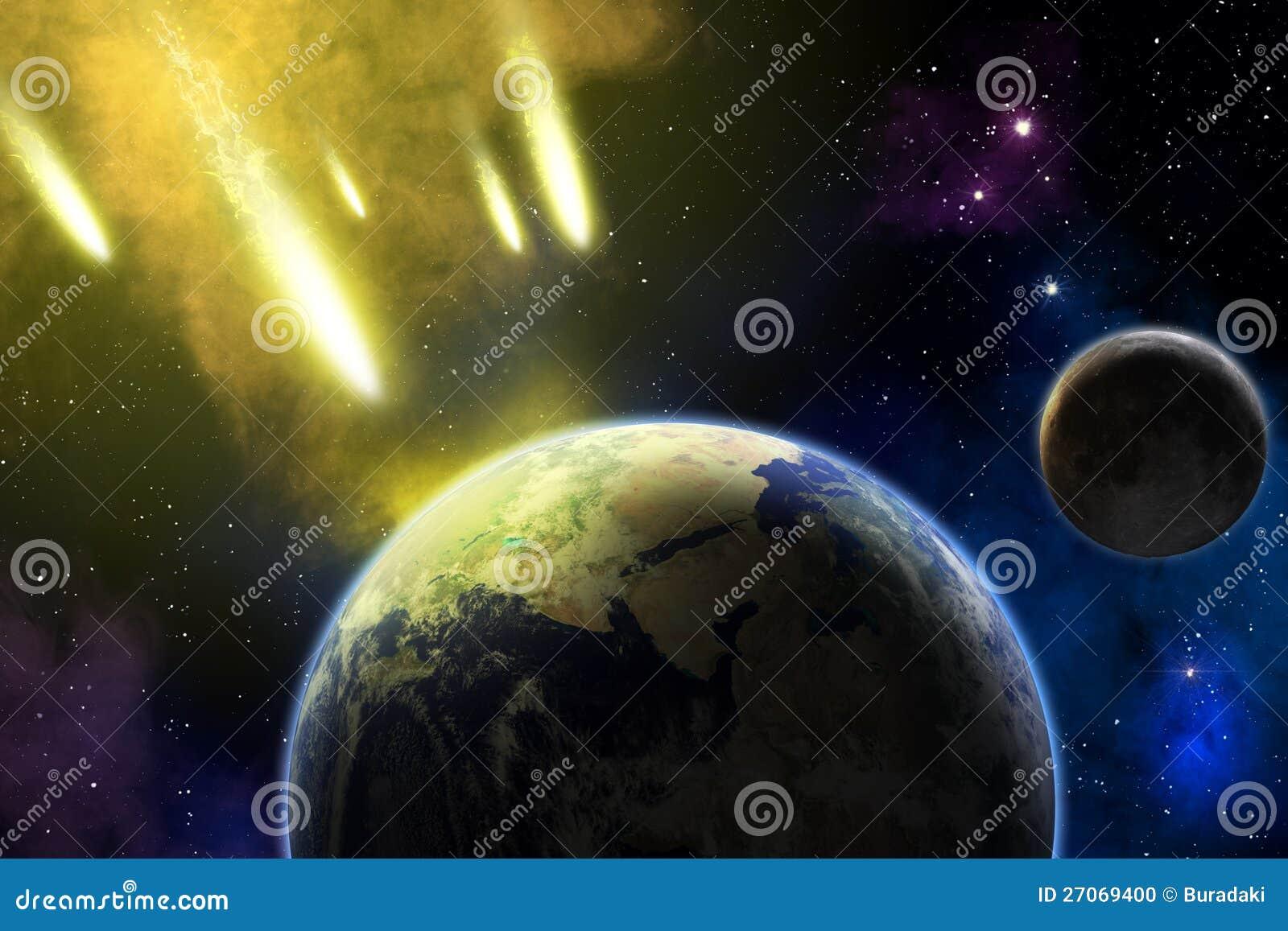 Terra, luna ed asteroidi. Armageddon.