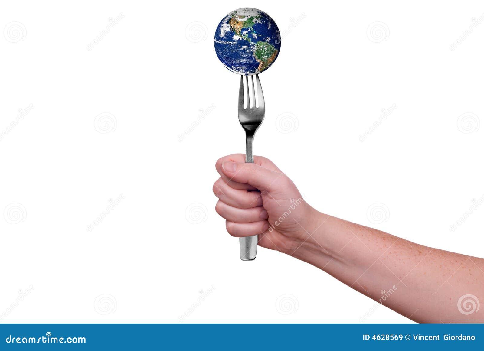 Terra na forquilha