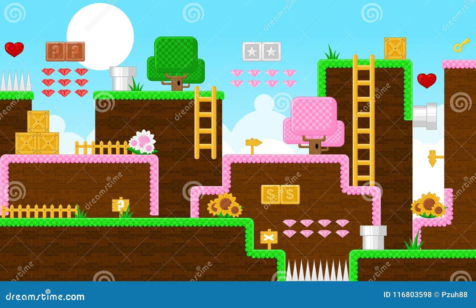 Terra Platformer Tileset di fantasia