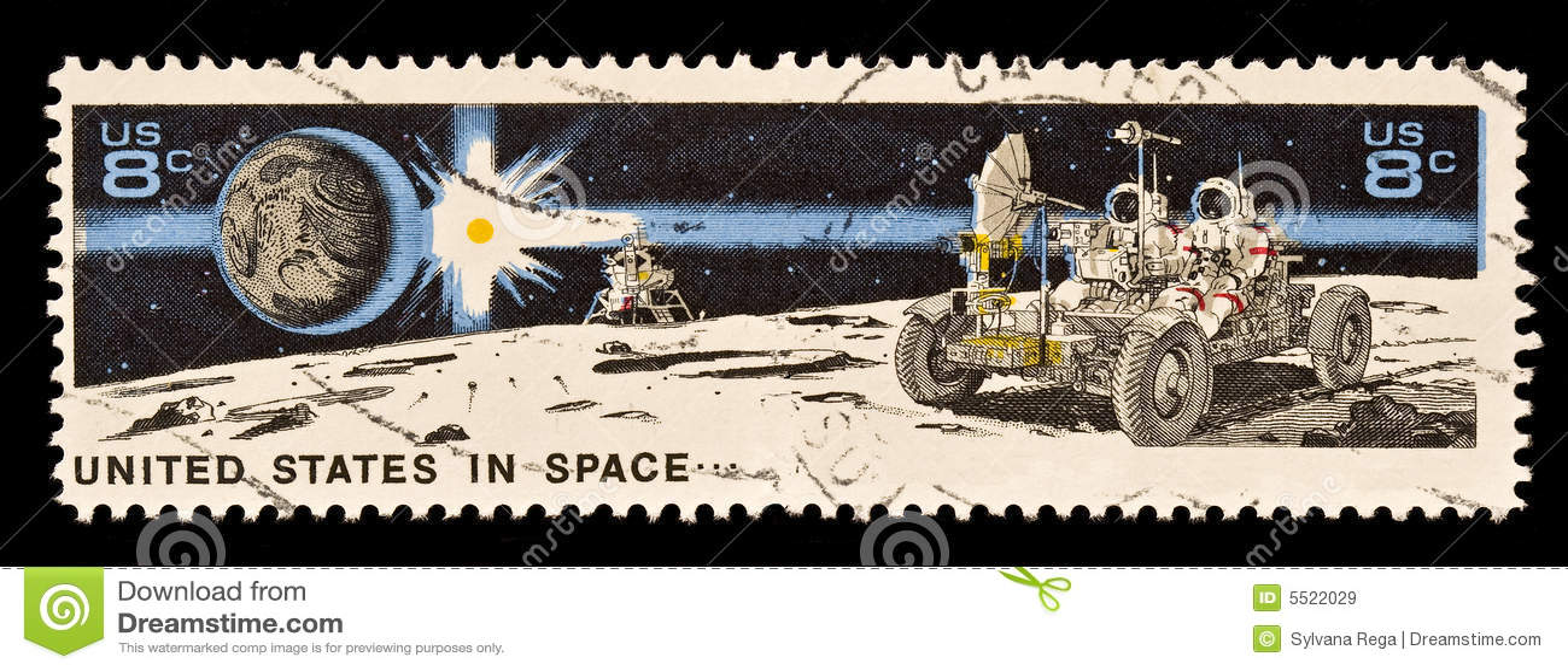 Terra, Sun, mestiere di atterraggio, vagabondo lunare e Astrona