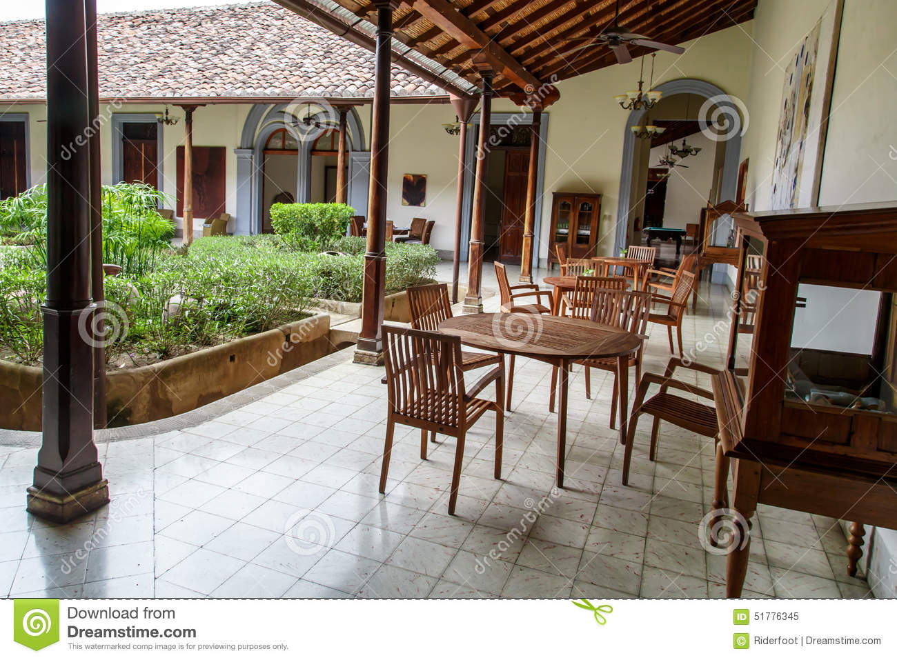 Terrace Of A Colonial House Stock Image Image Of Exterior