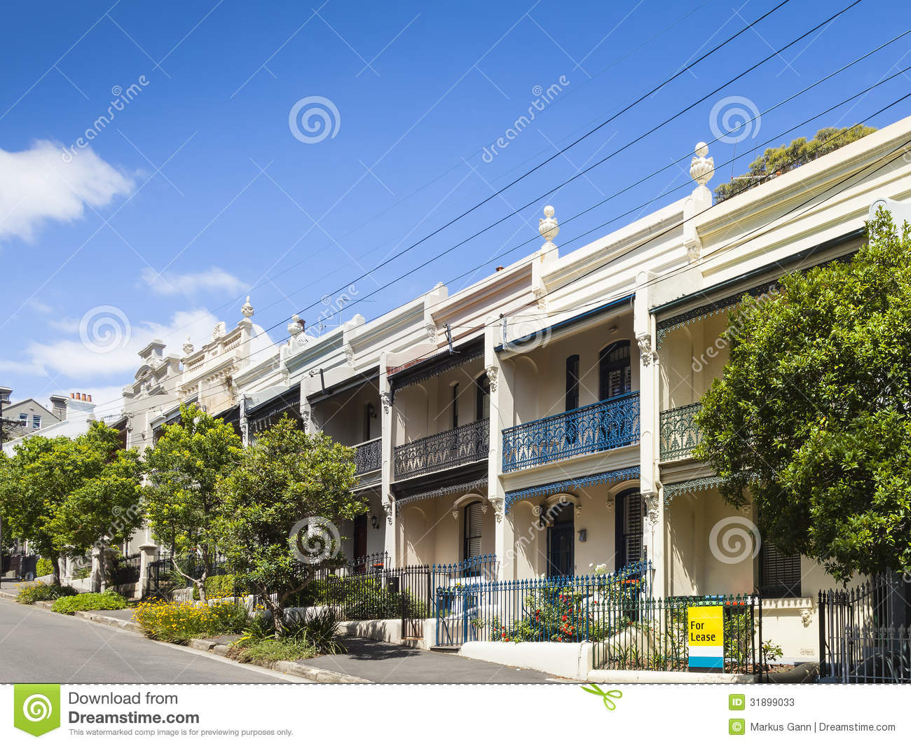 Terrace house paddington sydney stock photos image 31899033 for Terrace homes