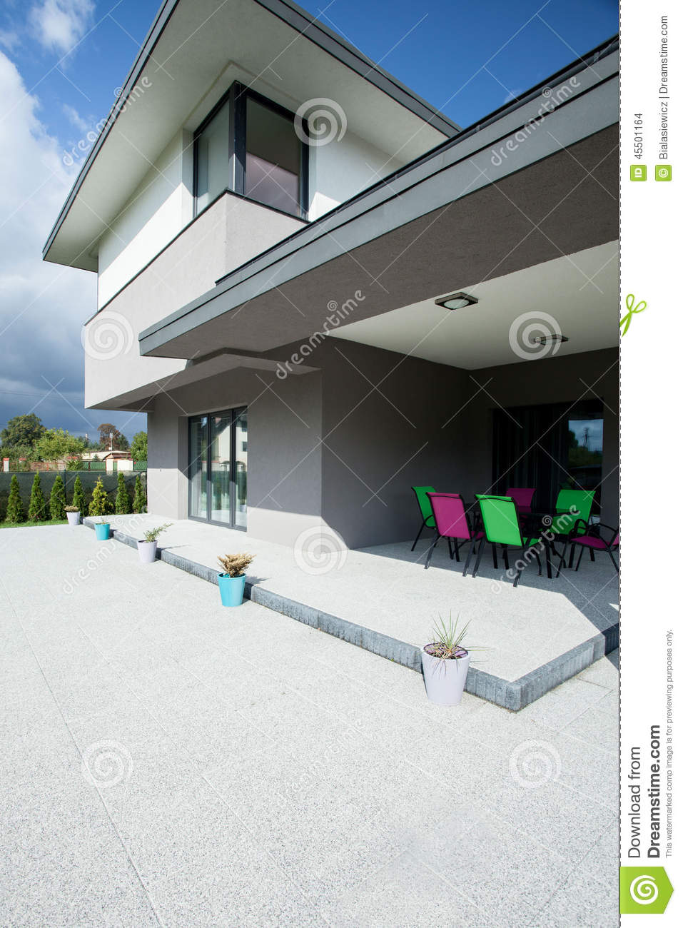 Terrace in a luxurious house