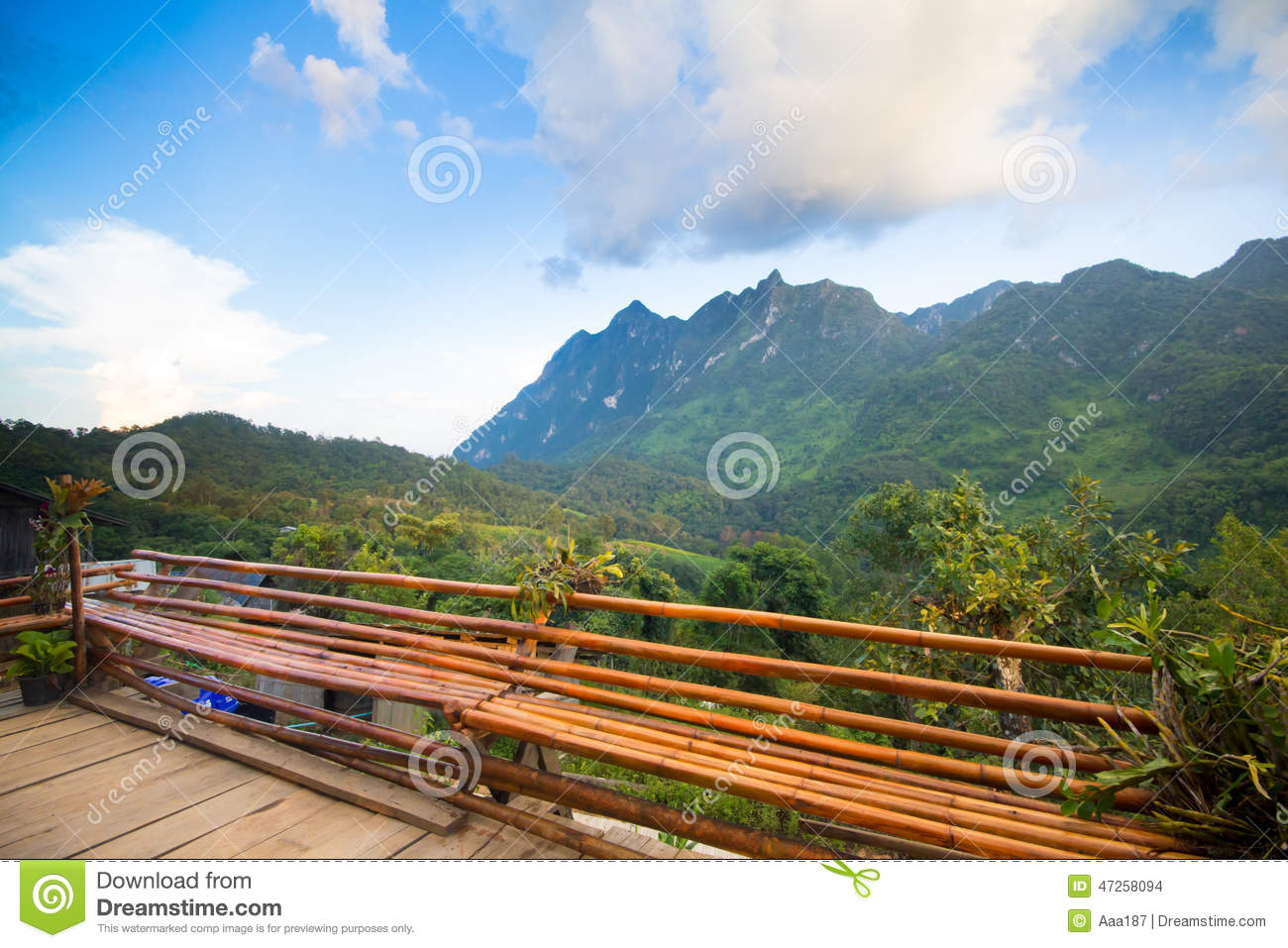 Terrace mountain view stock photo image 47258094 for Terrace nature