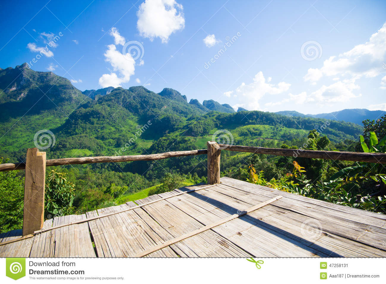 Terrace mountain view stock image image of chiangmai for Terrace nature