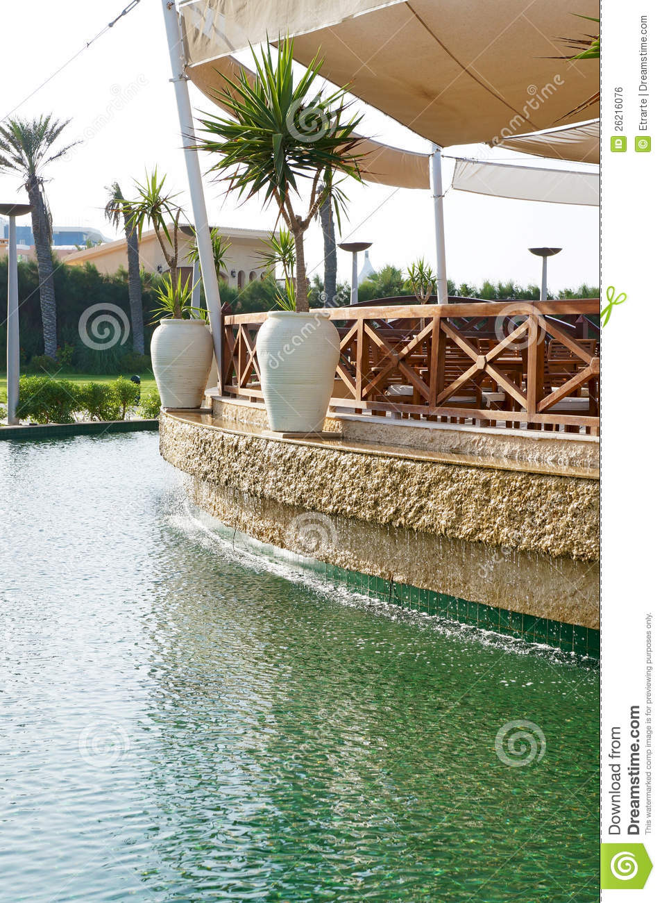terrace over the water royalty free stock image image On terrace on the water