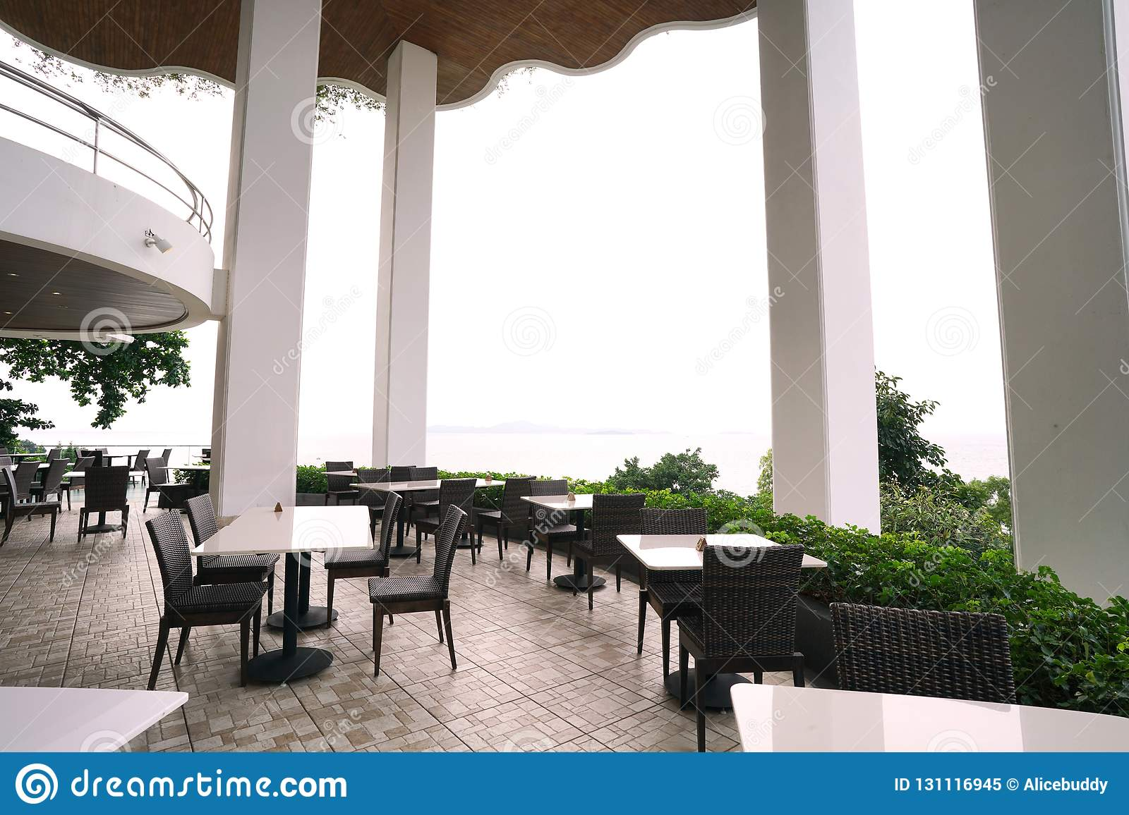 Terrace Of Restaurant At Harbor In Pattaya Editorial Image Image Of Outdoor Beautiful 131116945