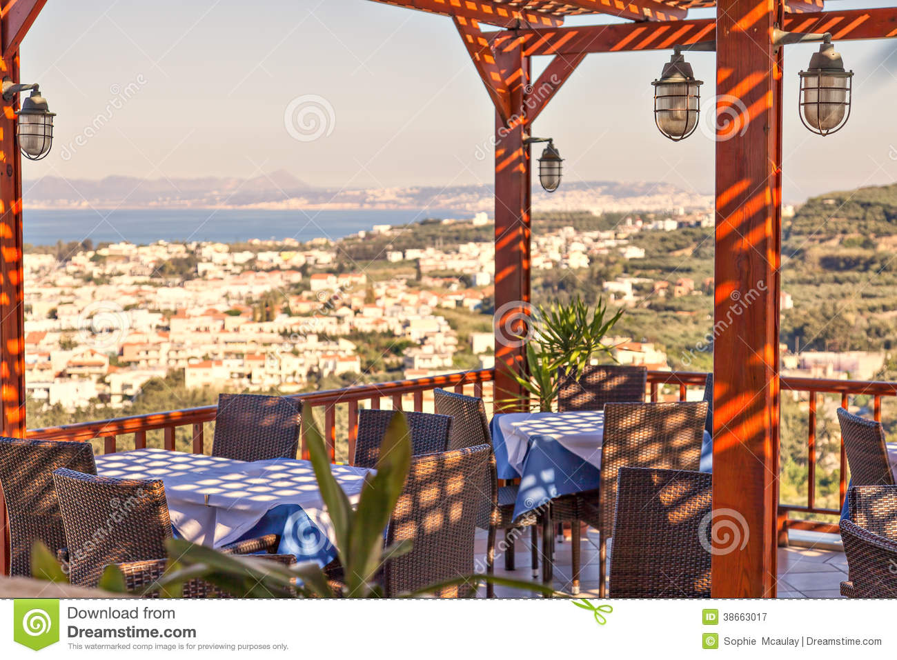 Terrace restaurant royalty free stock photography image for Restaurant with terrace