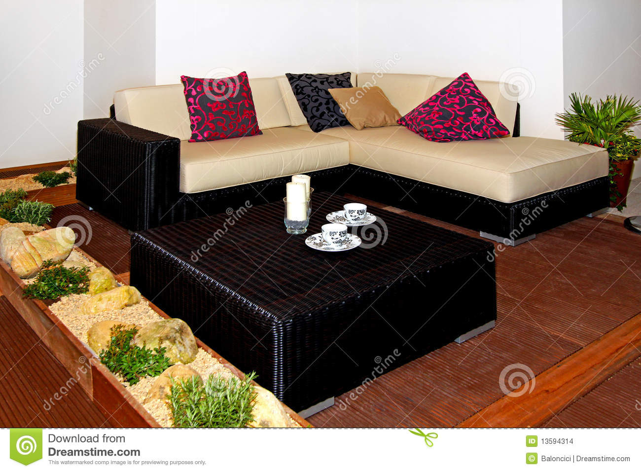 Download Terrace settee stock photo. Image of family, settee, coffee - 13594314