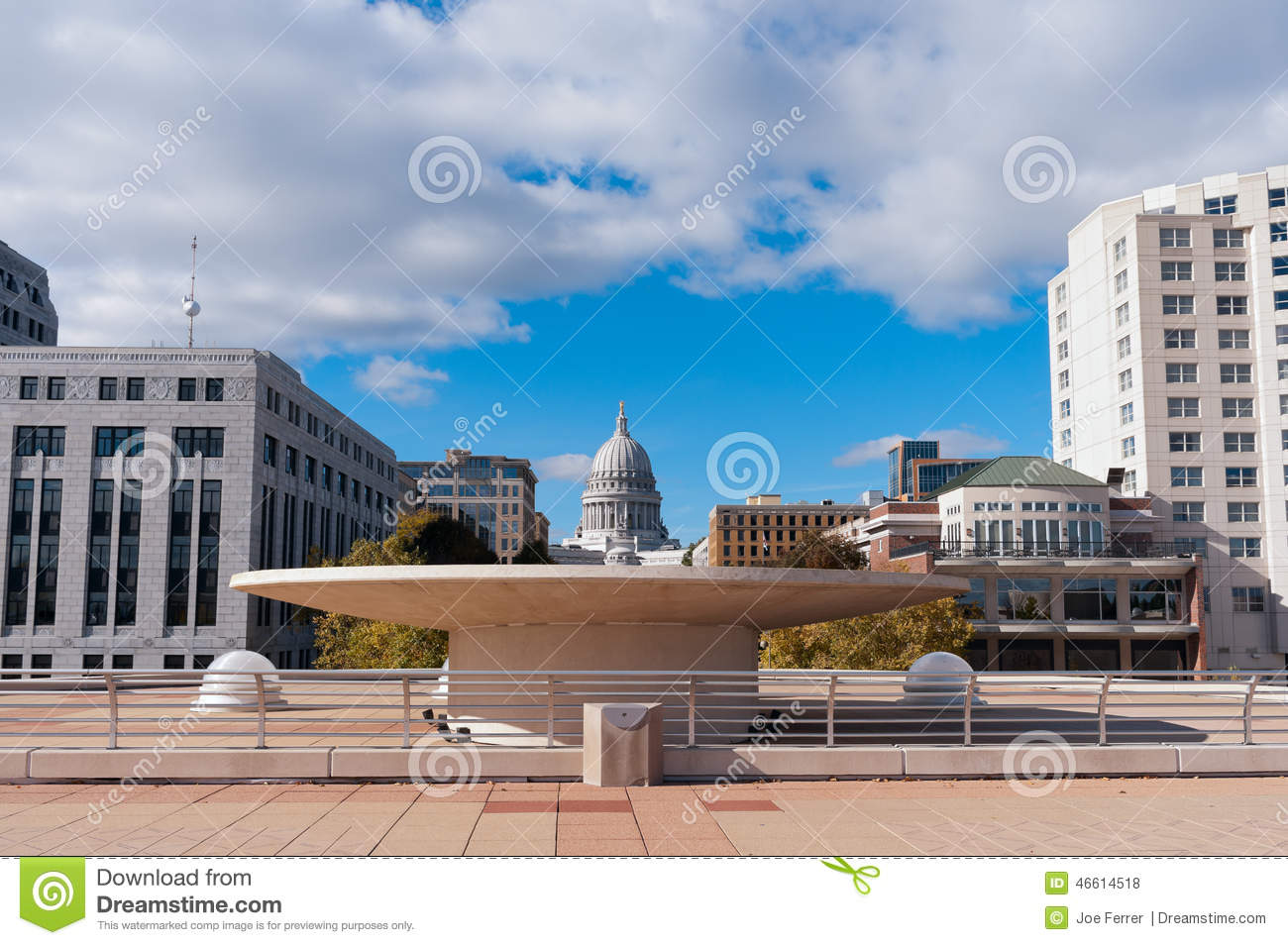 Terrace and state capitol in madison wisconsin stock photo for The terrace madison wi