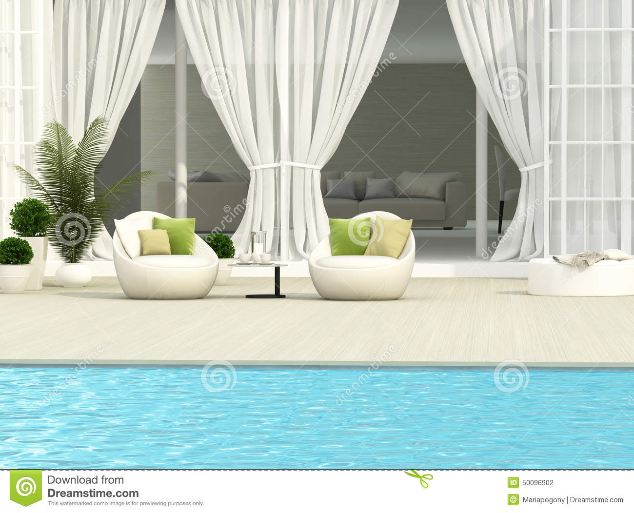 Terrace and white furniture stock photo image 50096902 for Terrace white