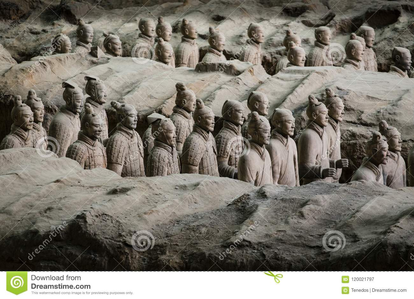 Terracota wojsko pierwszy cesarz Chiny