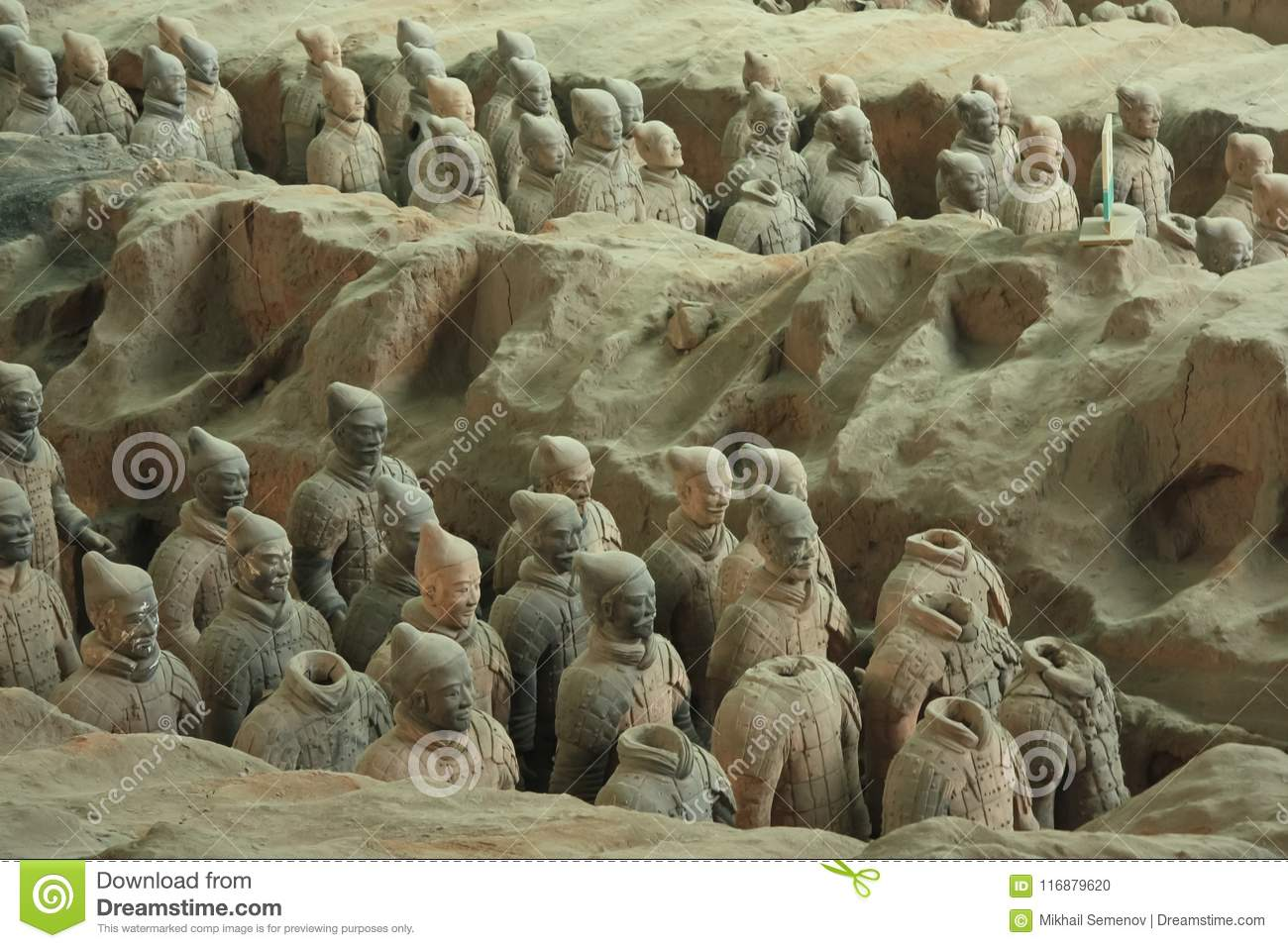 The terracotta army is a figure of ancient