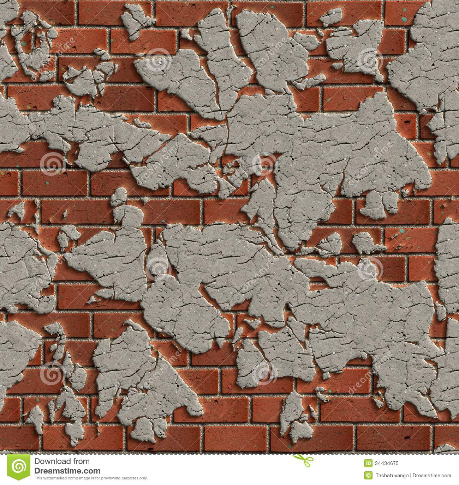 Terracotta Brick Wall. Seamless Tileable Texture.