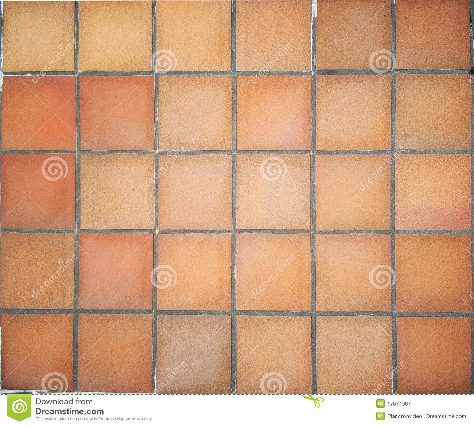 Terracotta Floor Tiles Royalty Free Stock Photography