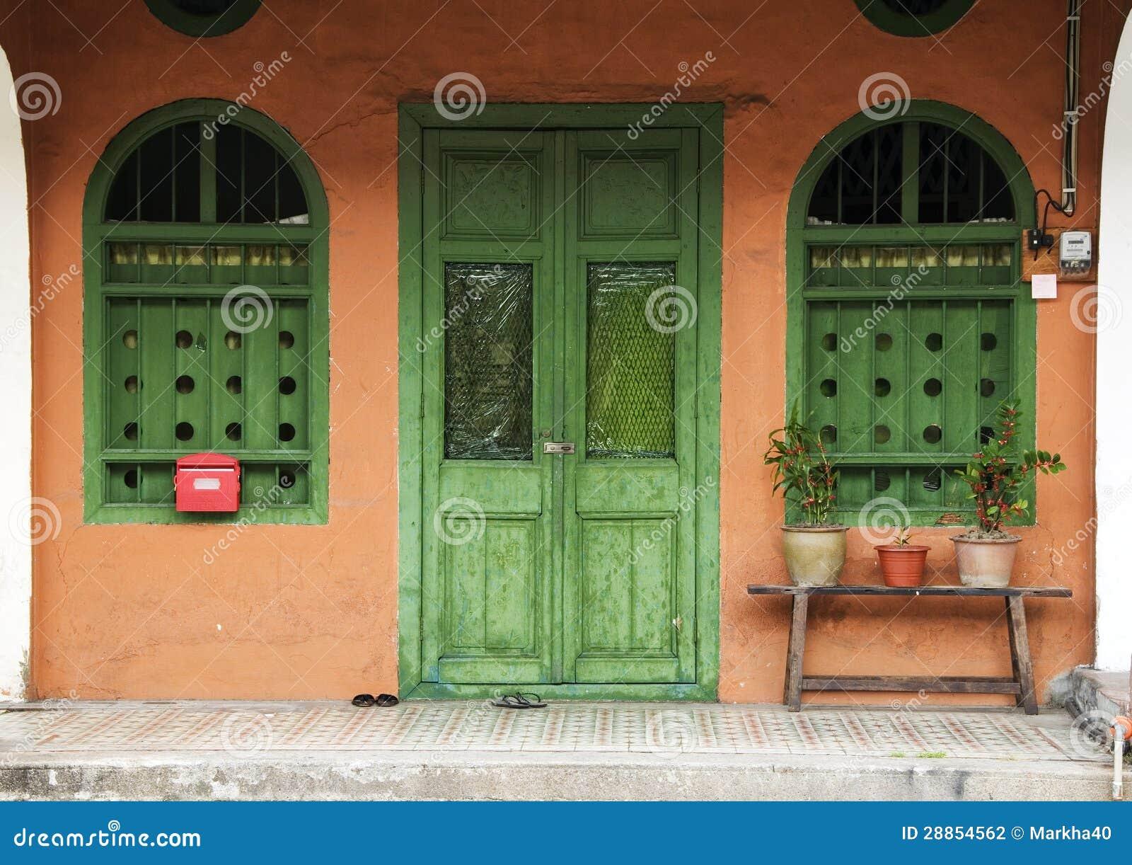 Terracotta House Penang Malaysia Stock Photo Image