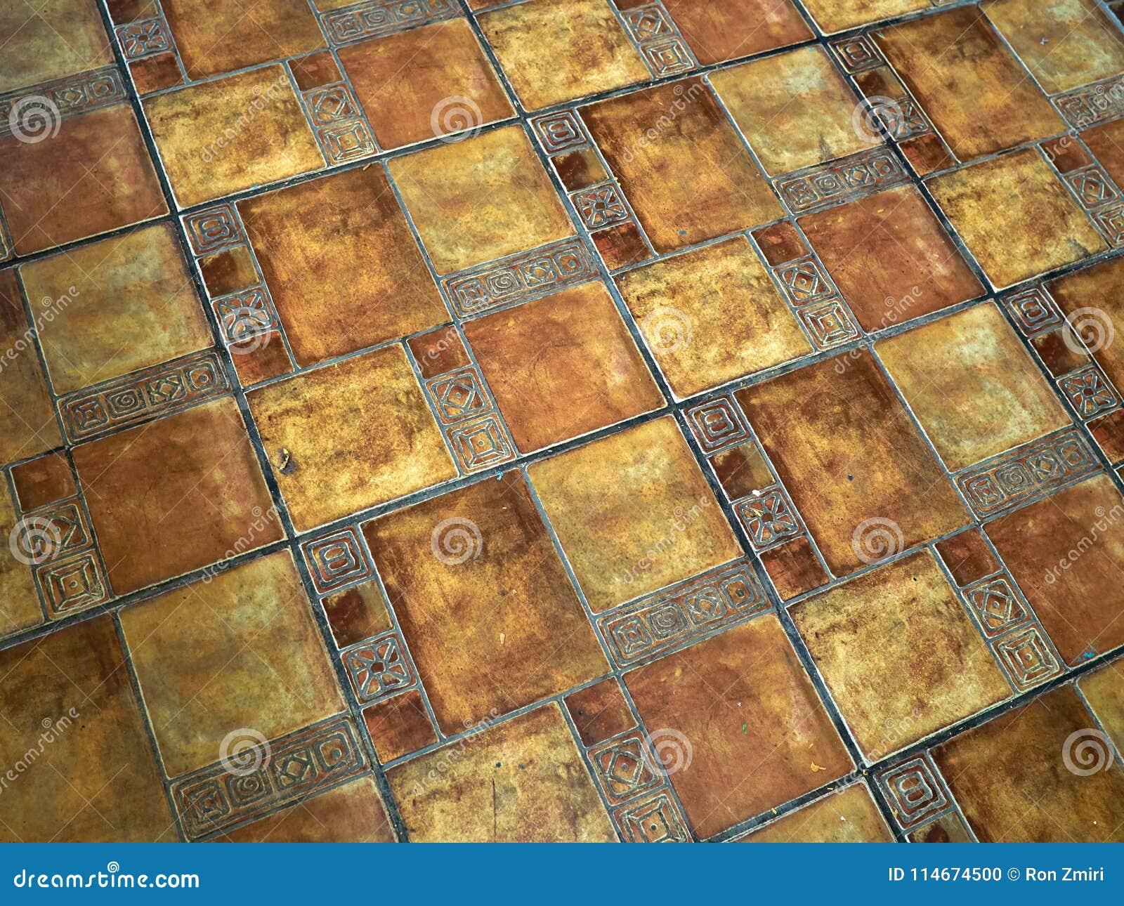 Terracotta Natural Stone Floor Tiles Stock Photo Image Of Concrete