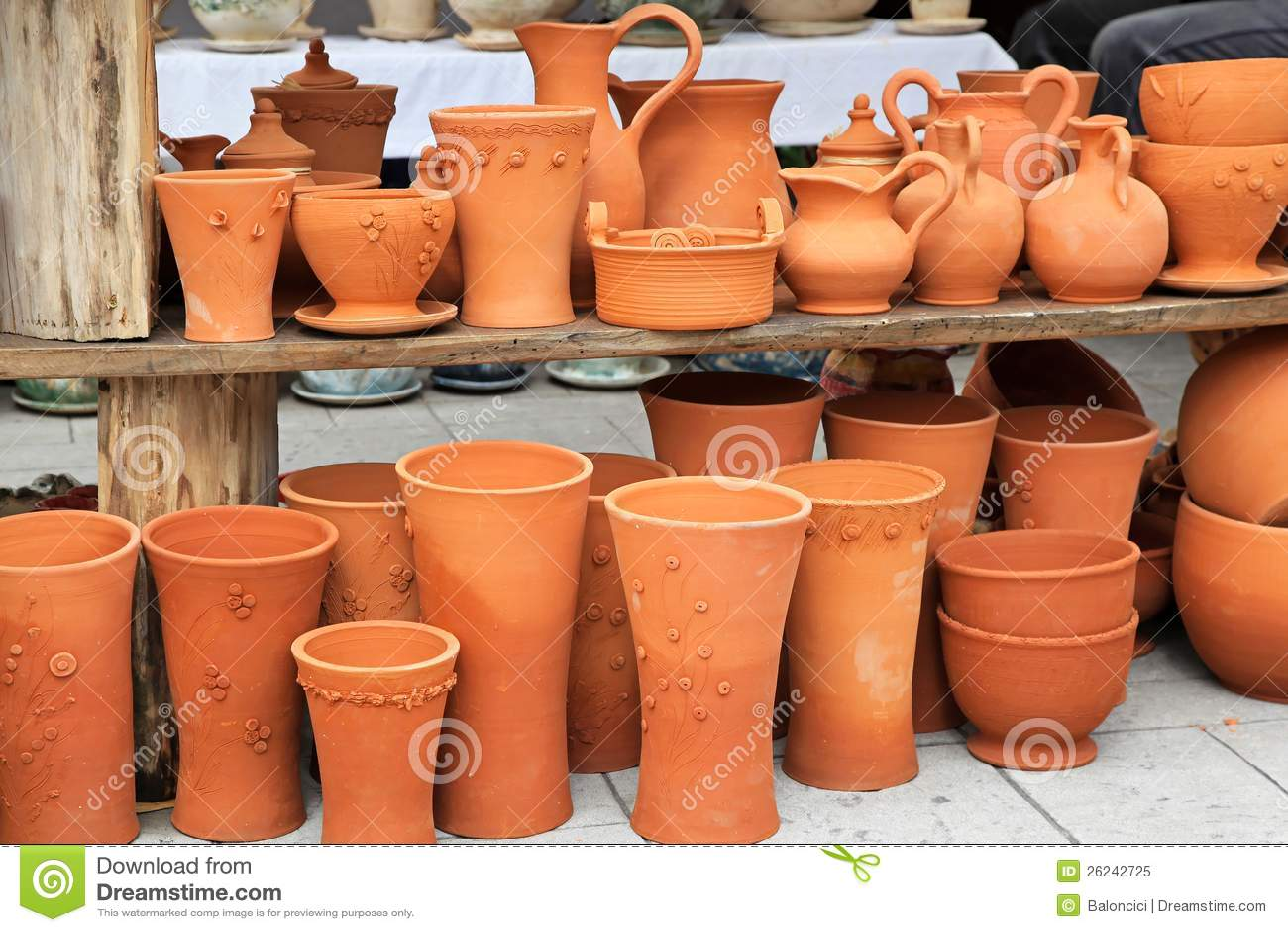 Terracotta Pottery Royalty Free Stock Photo Image 26242725